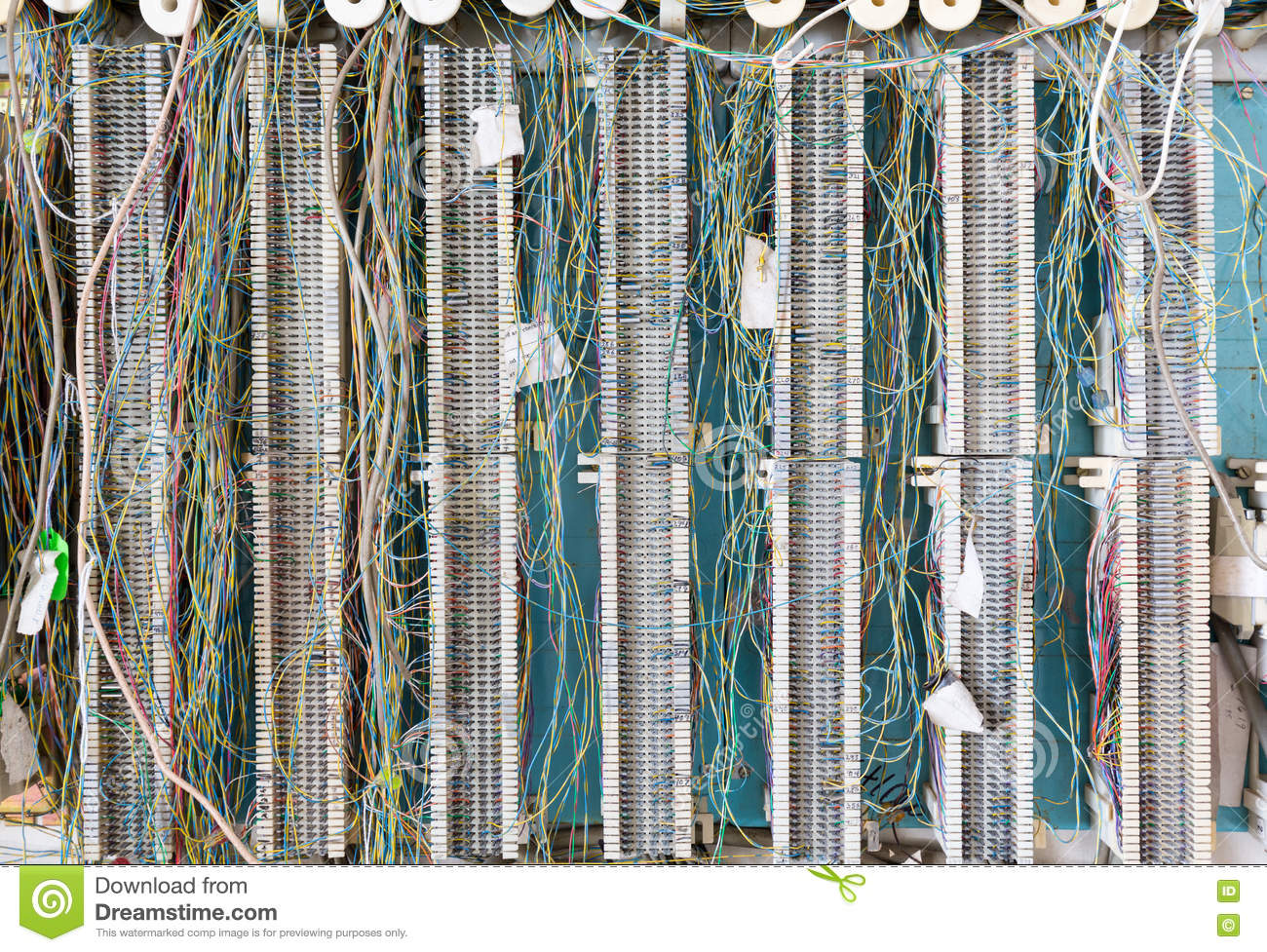 Telephone Wiring Panel On Wall For Telecoms Stock Image Of Ethernet
