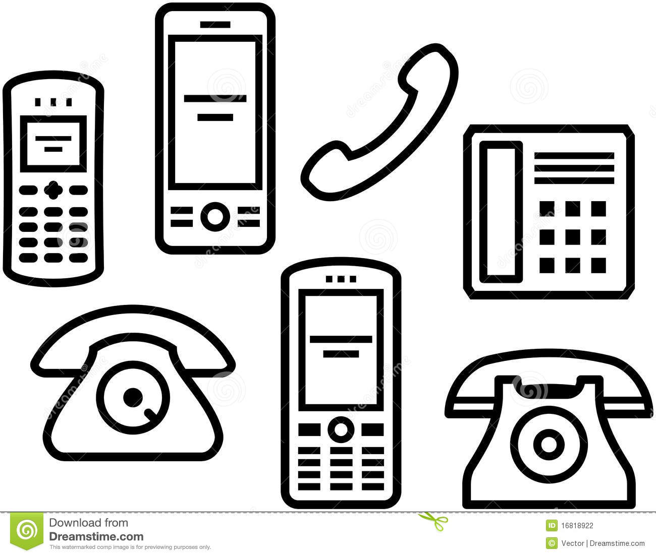 telephones  mobile phones vector illustration stock cell phone clip art cartoons cute cell phone clip art free
