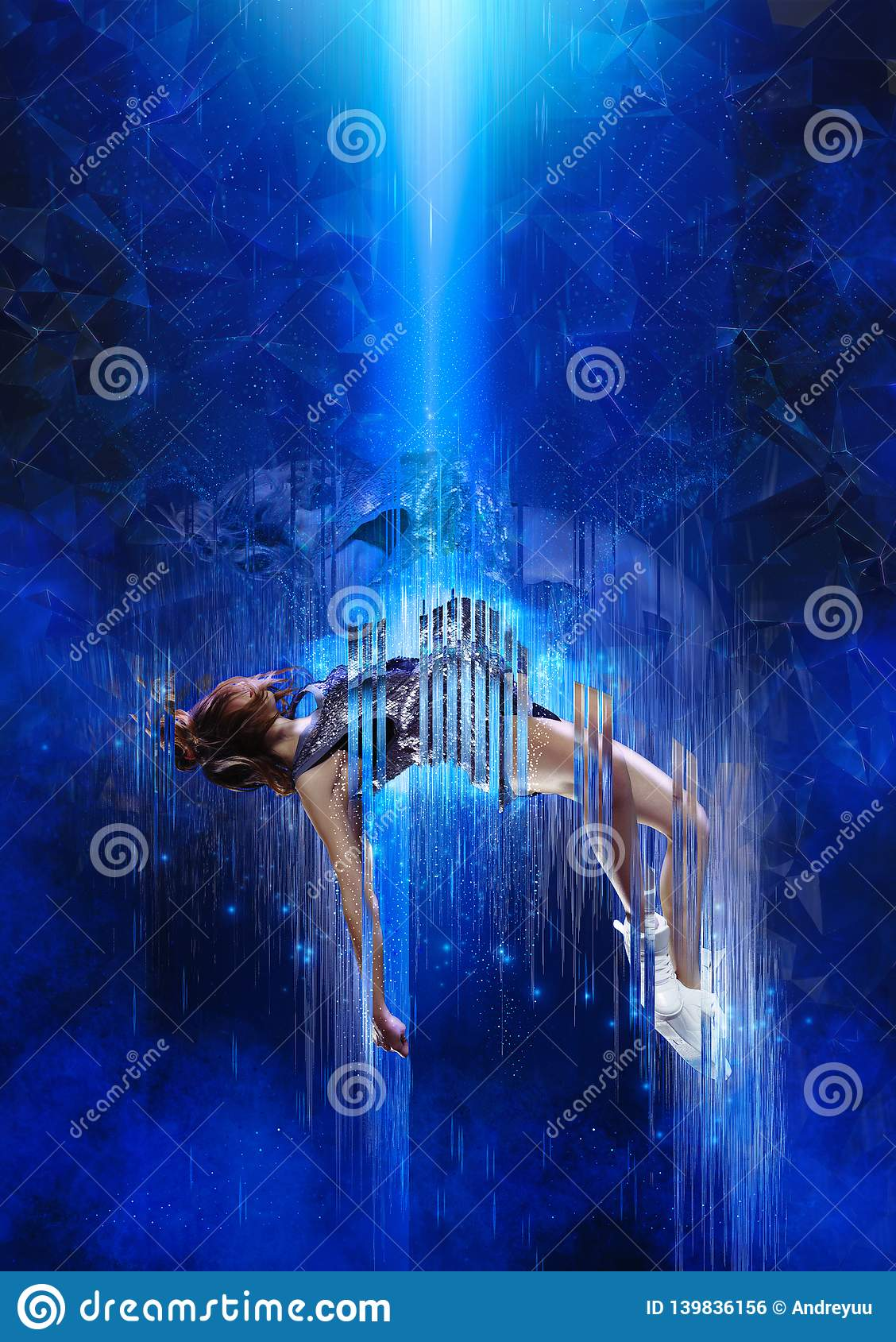 Teleportation to another world or dimension, scientific experiment