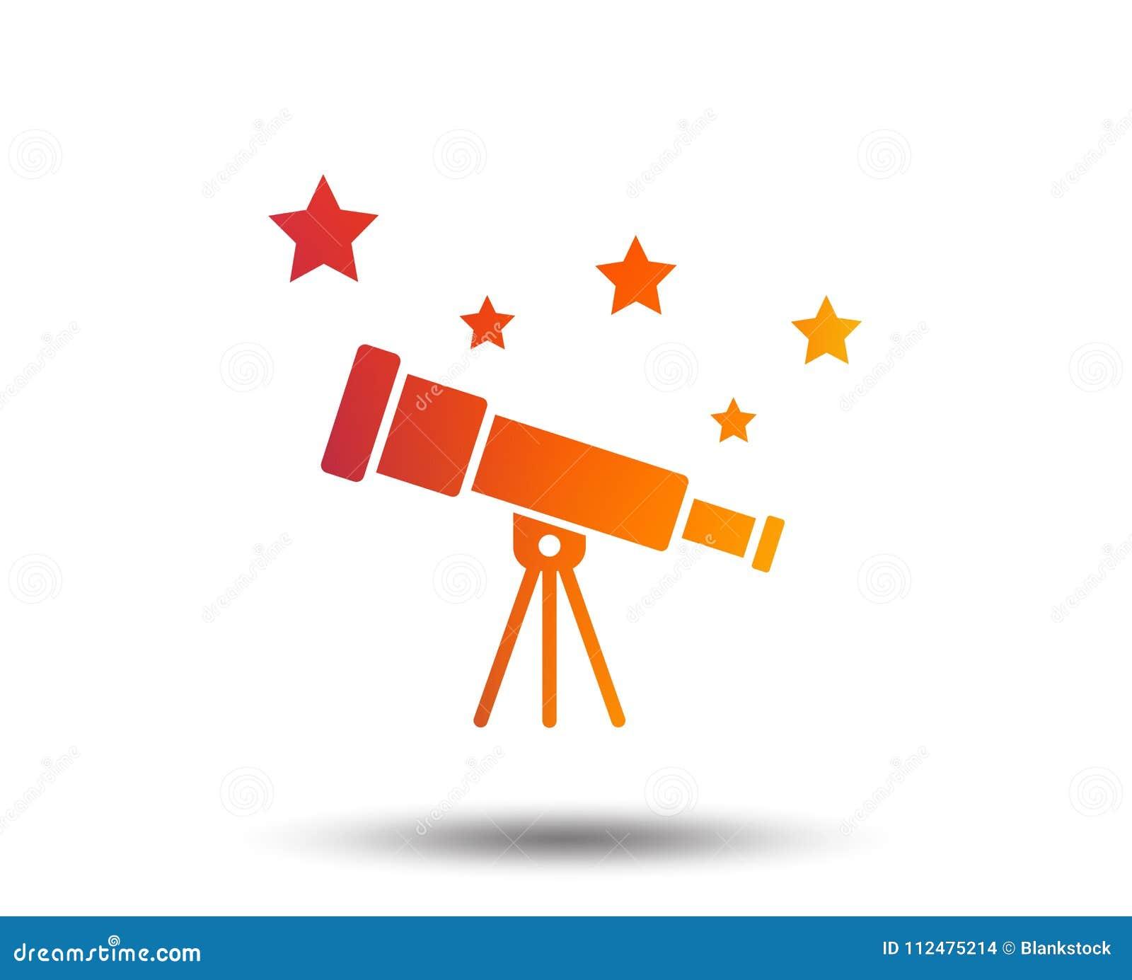Telescope Icon  Spyglass Tool Symbol  Stock Vector - Illustration of