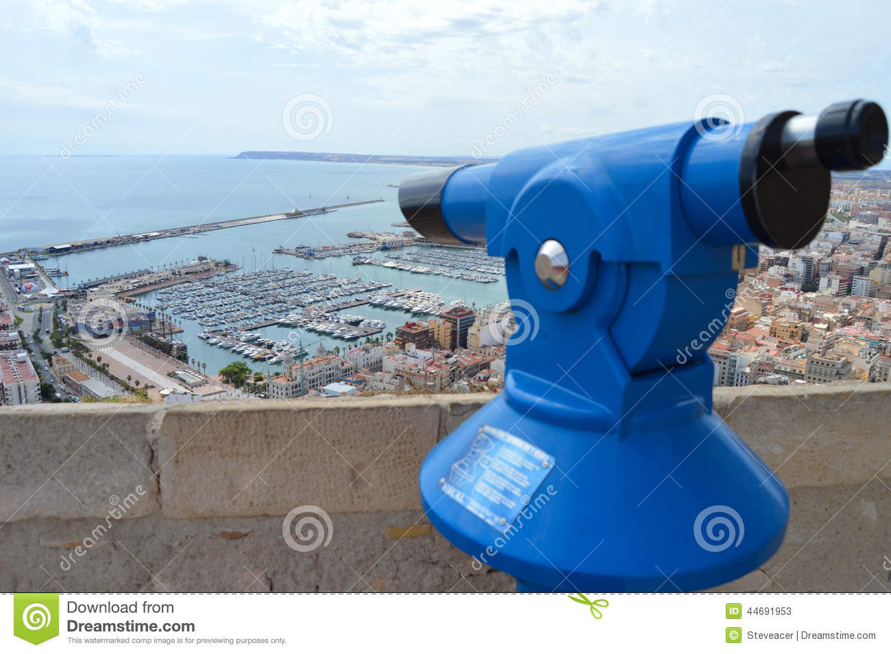 A Telescope With A View OF Alicante City