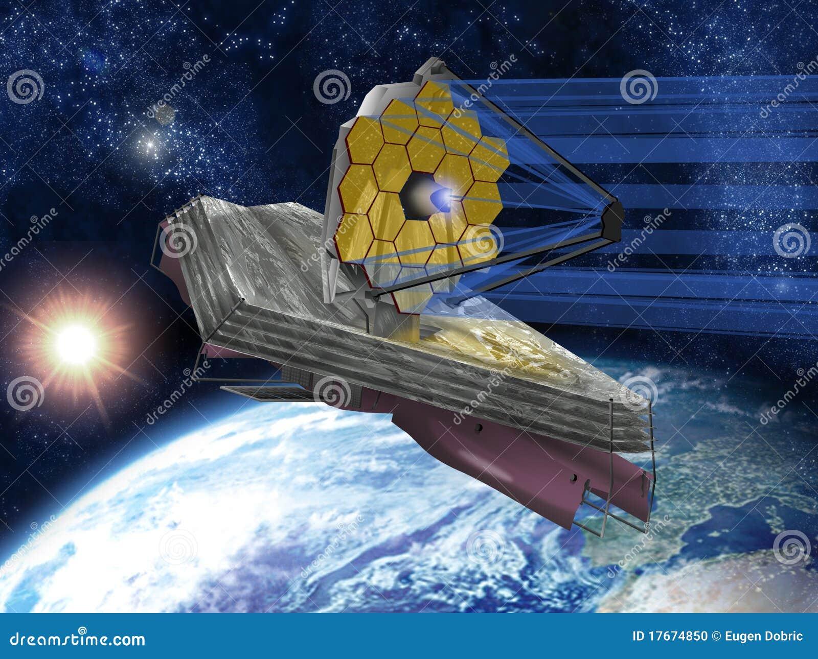 Telescopio Espacial De James Webb Foto de archivo - Imagen ...