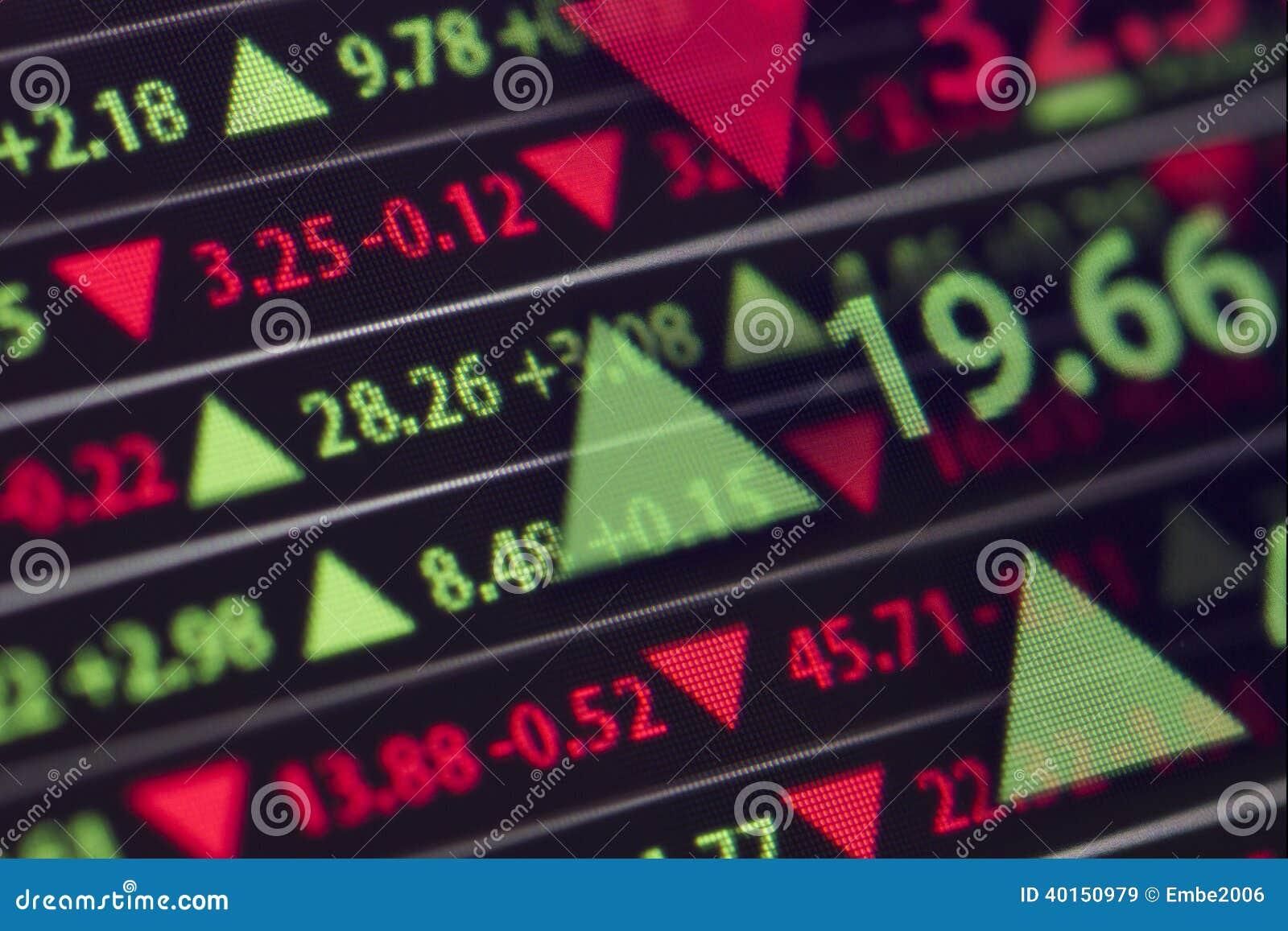 Teletipo del mercado de acción