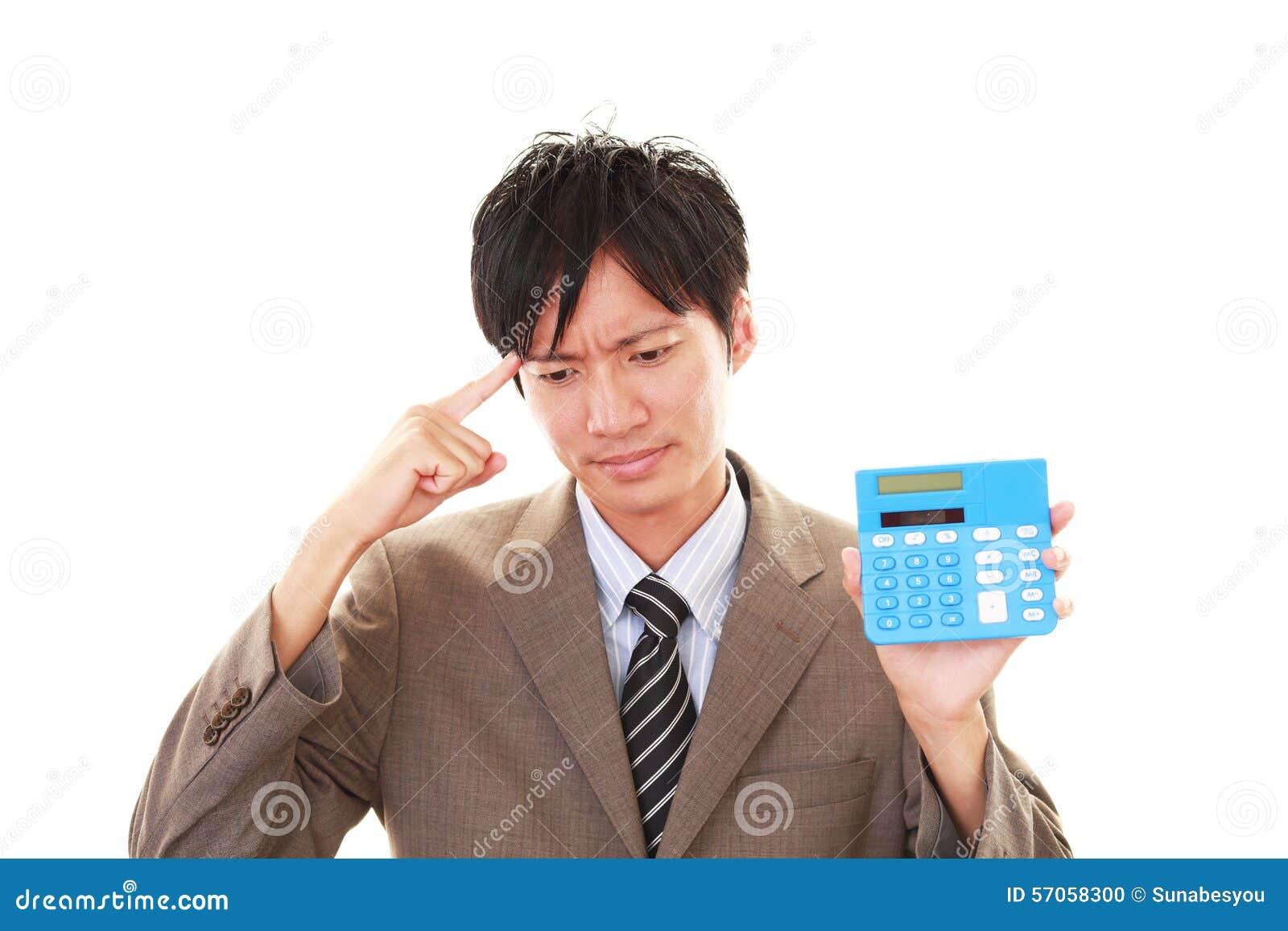 Teleurgestelde Aziatische zakenman