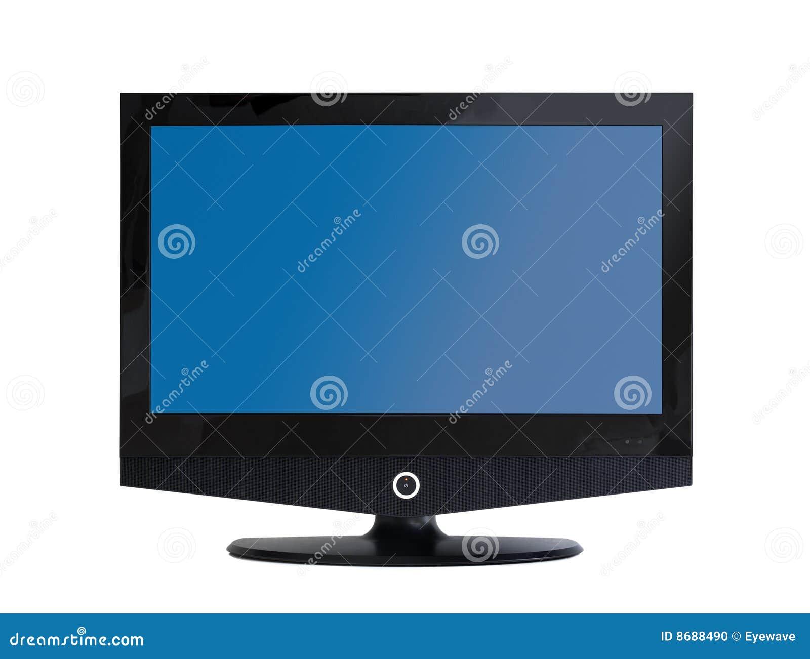 Televisión del LCD de la pantalla plana aislada