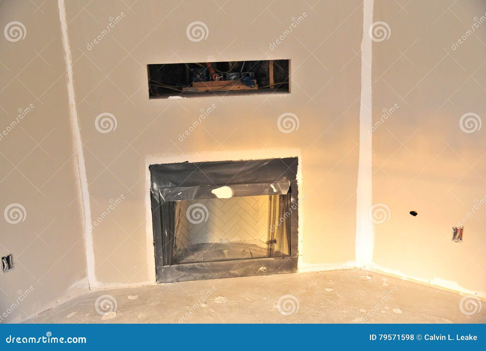 Televisi n en conducto de la pared sobre la chimenea foto - Cocinar en la chimenea ...