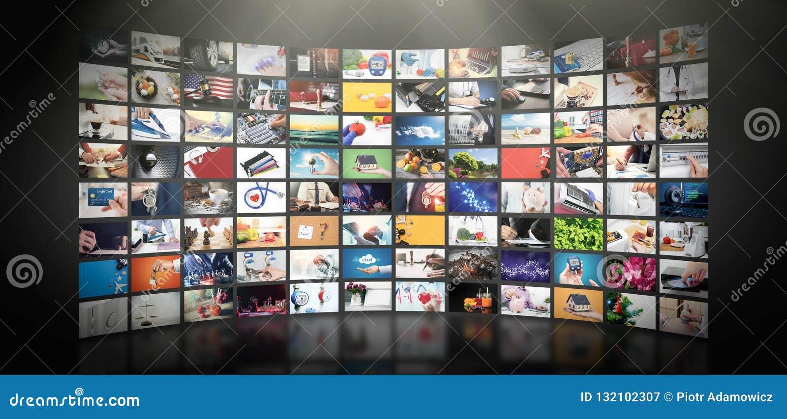 Televisie het stromen video Media TV op bestelling
