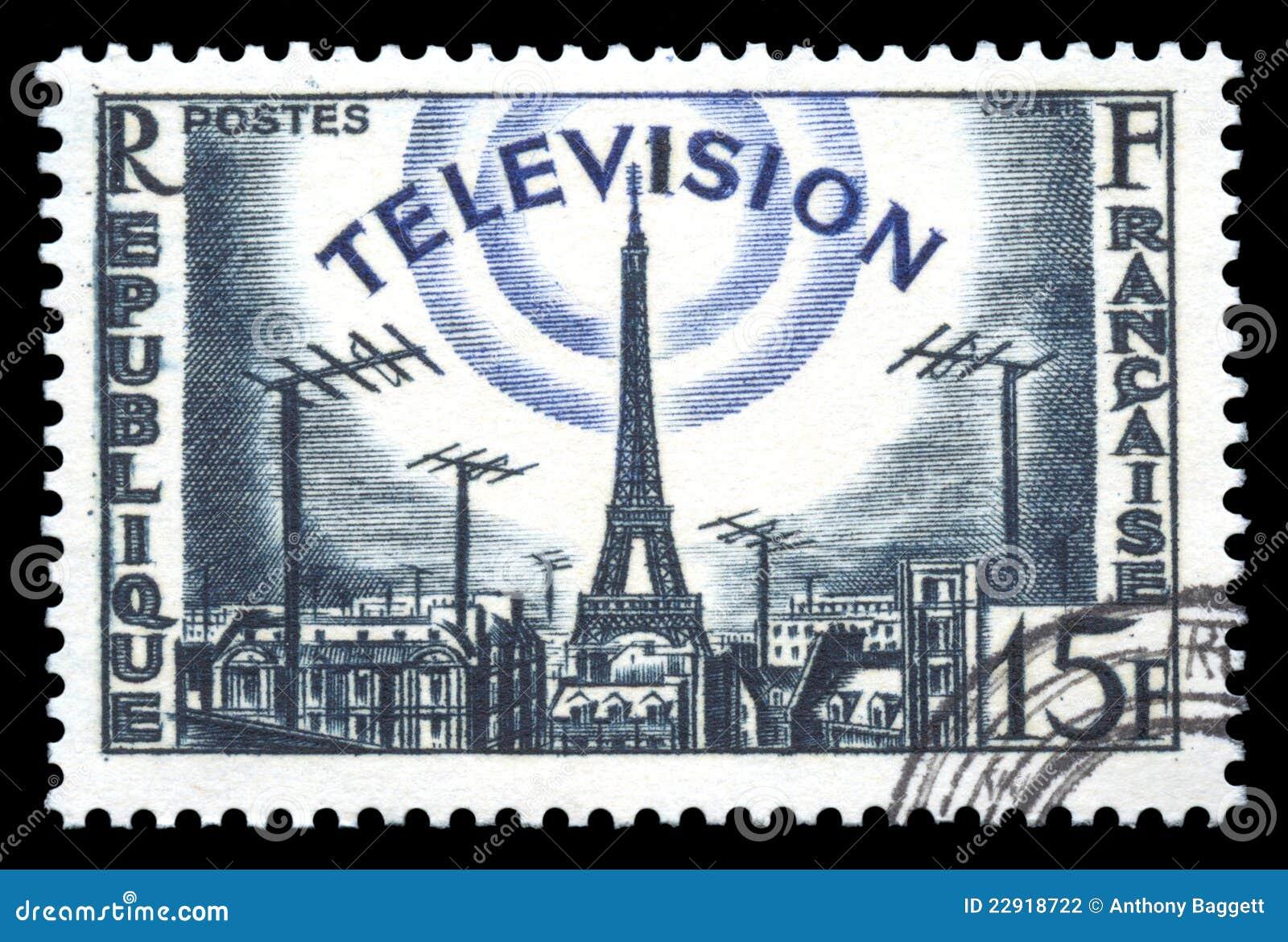 Television för stämpel för utvecklingsfrance porto