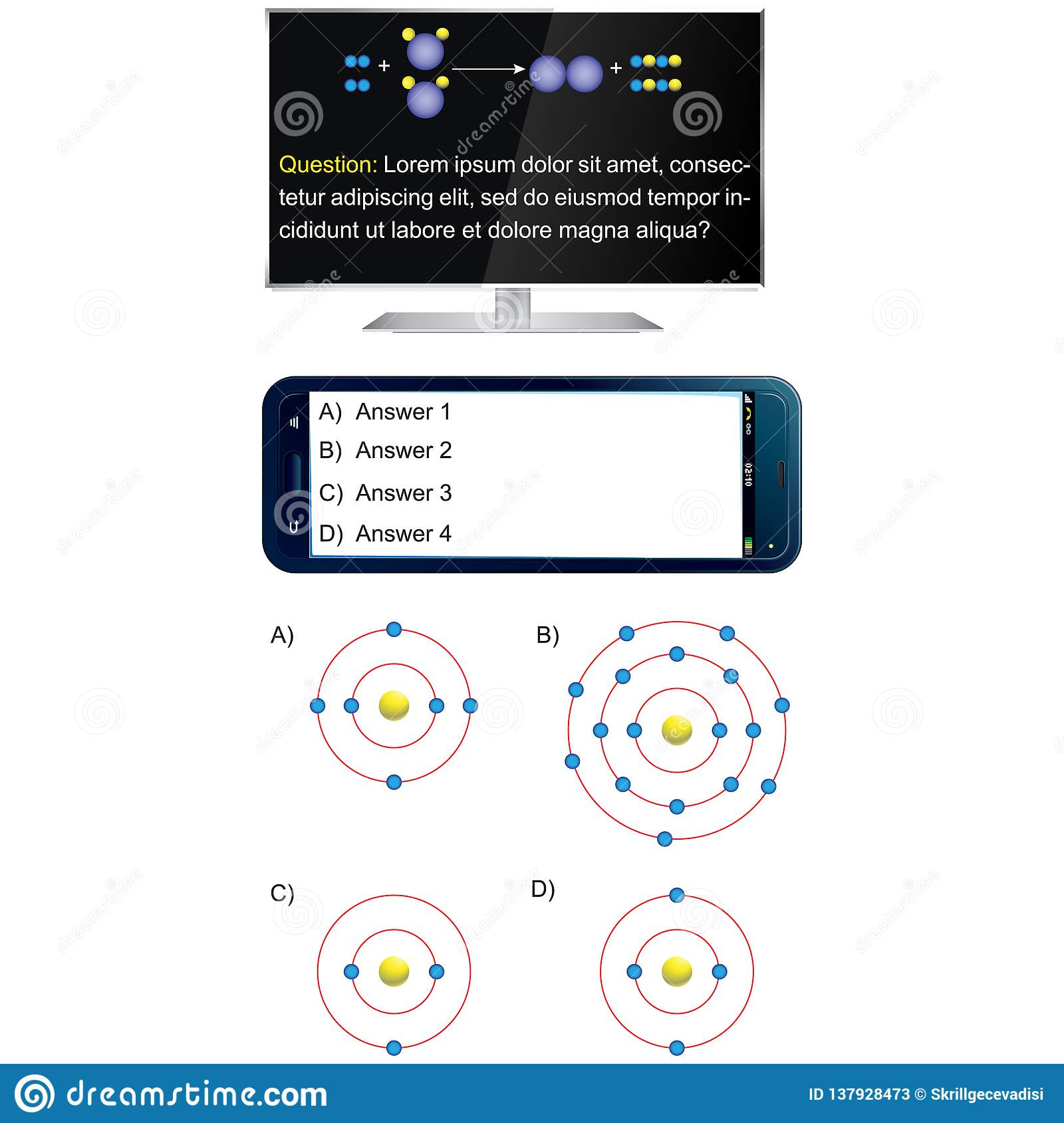 Television And Mobile Phone - Question And Answer Template
