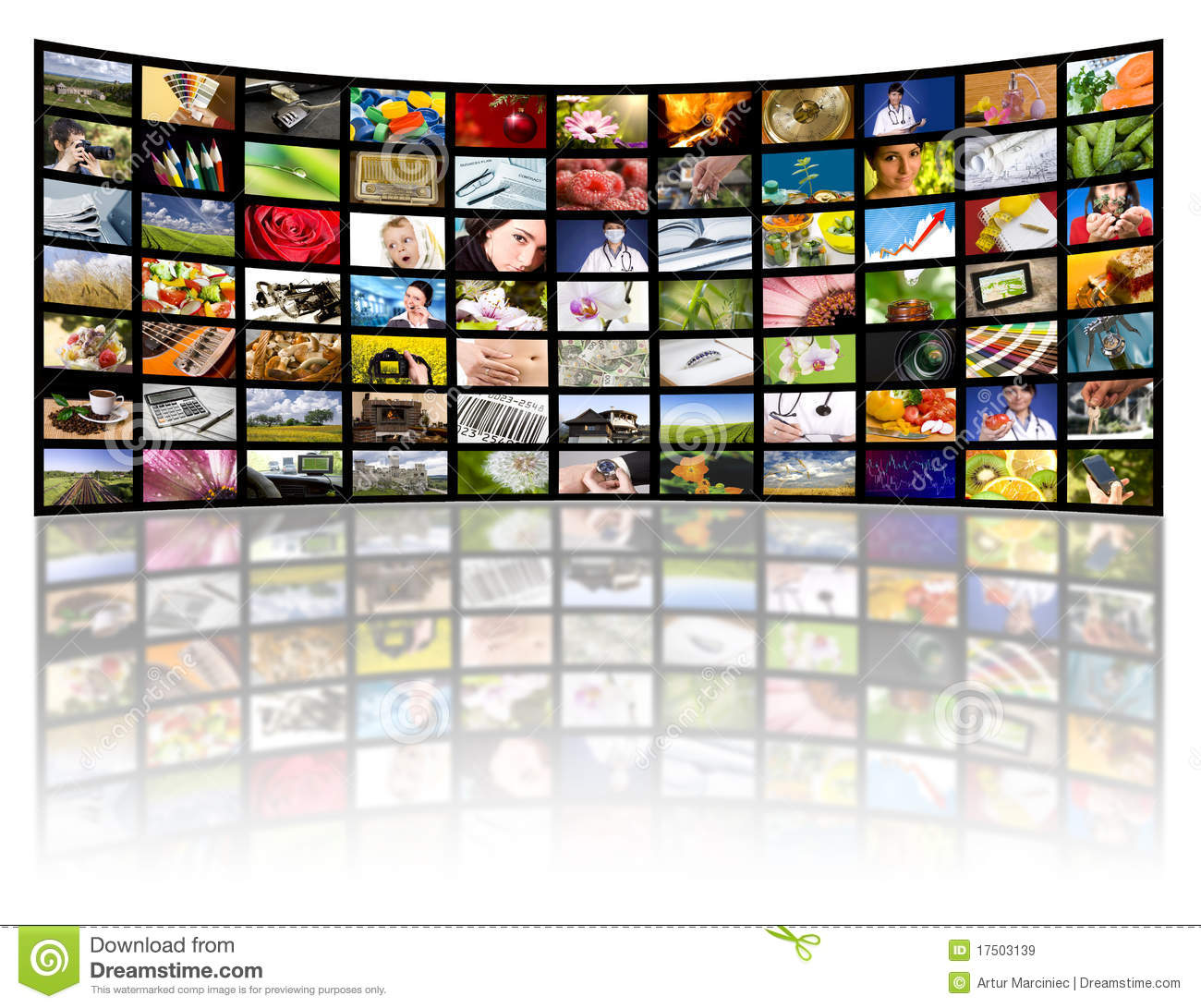 What Time Is It On What Tv: Television Production Concept. TV Movie Panels Stock Image