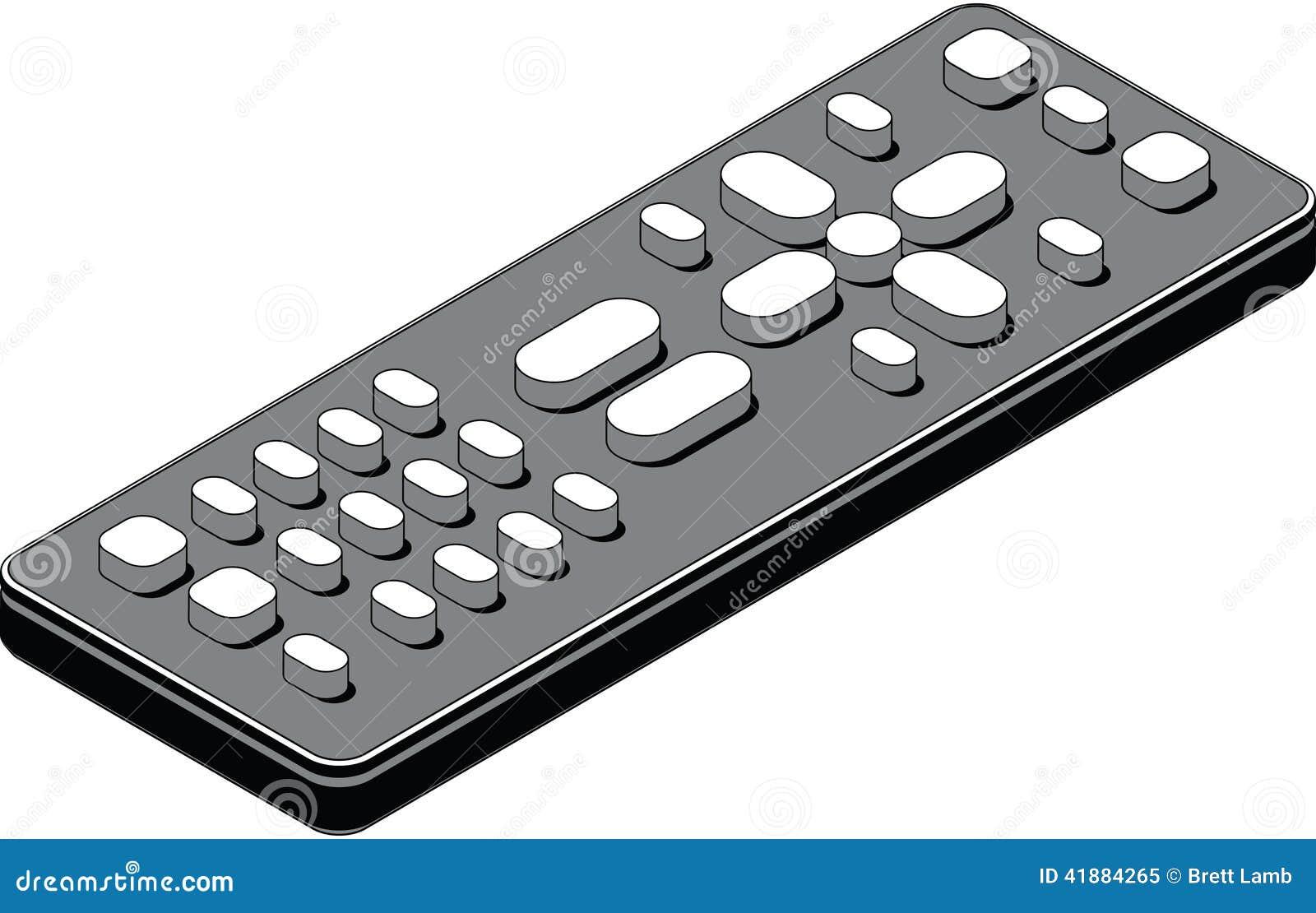 television remote control stock illustration image 41884265