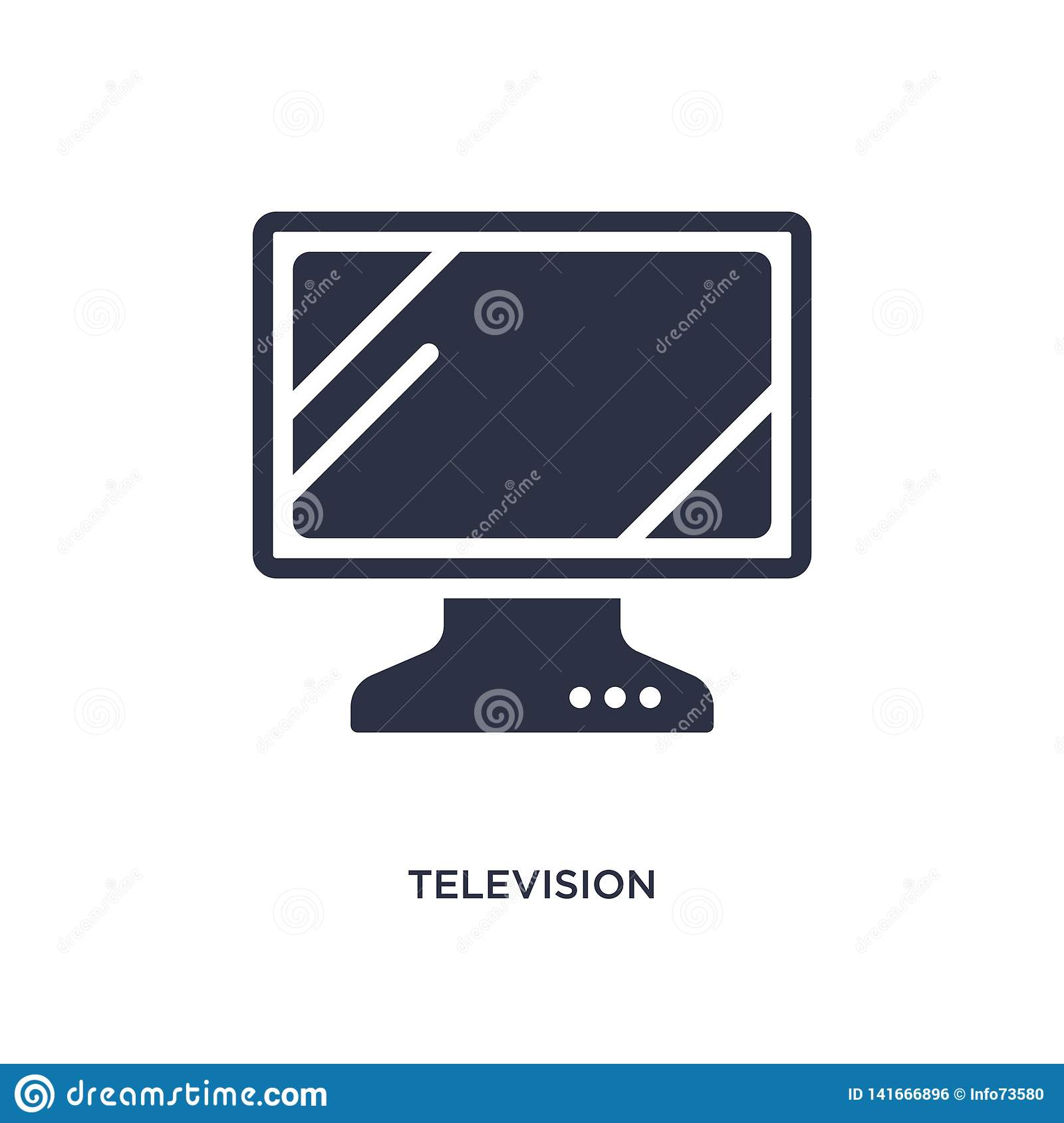 television screen off icon on white background. Simple element illustration from music and media concept