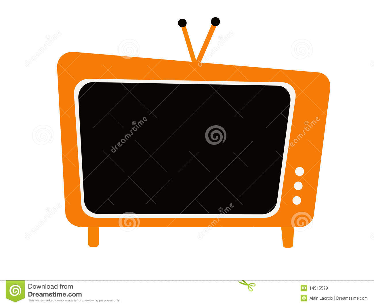 Image Of Old Fashioned Television