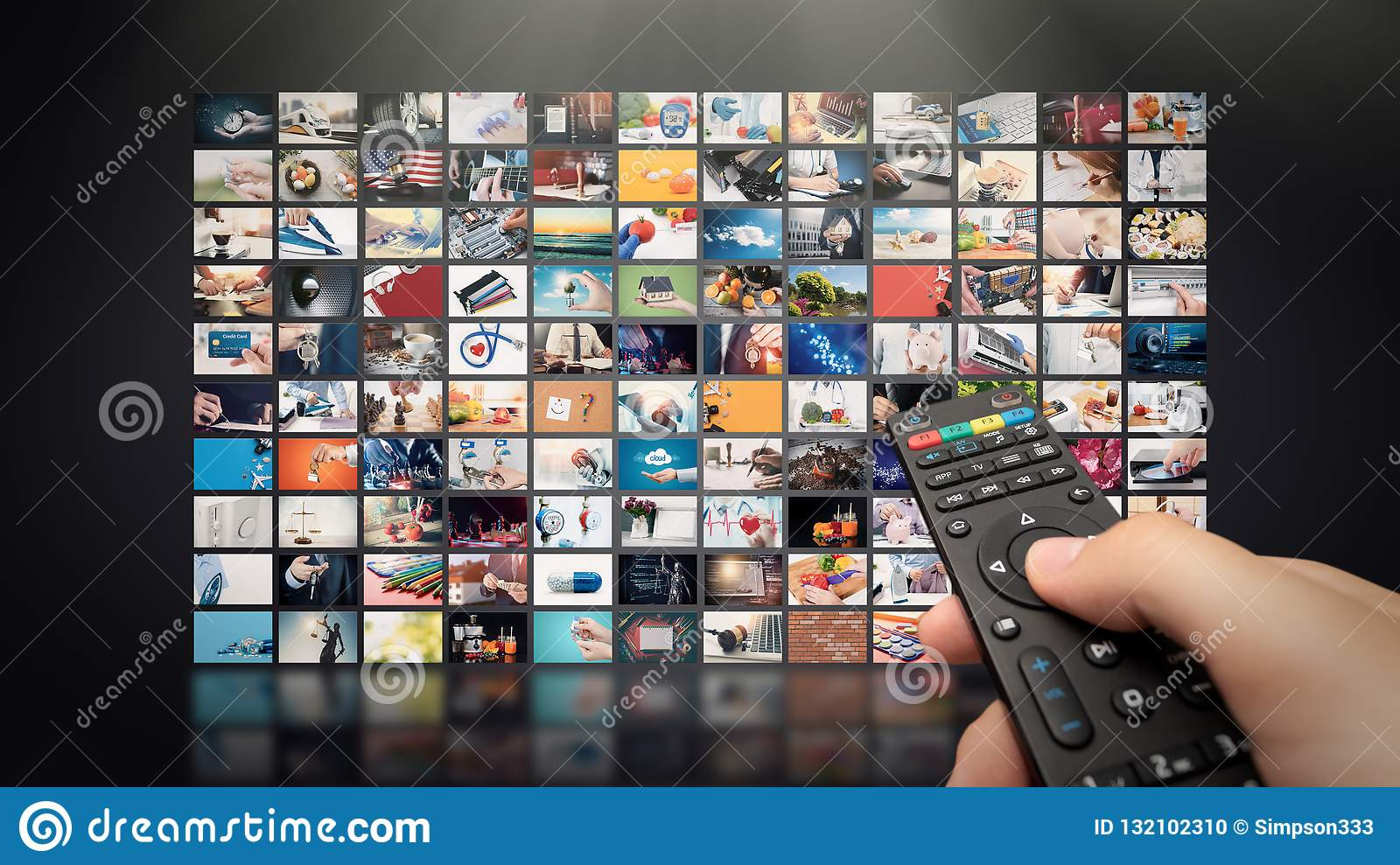 Television Streaming Video  Media TV On Demand Stock Photo