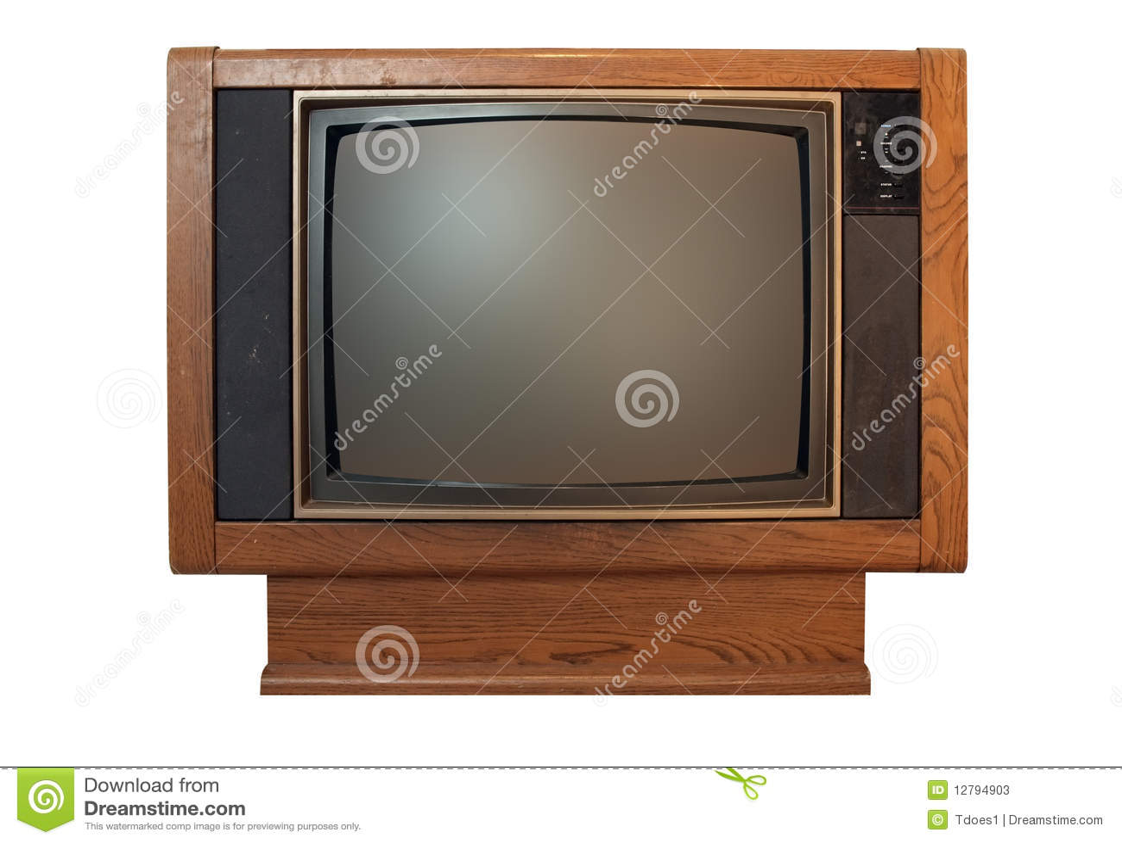 Television vintage floor model stock photos image for Floor model tv