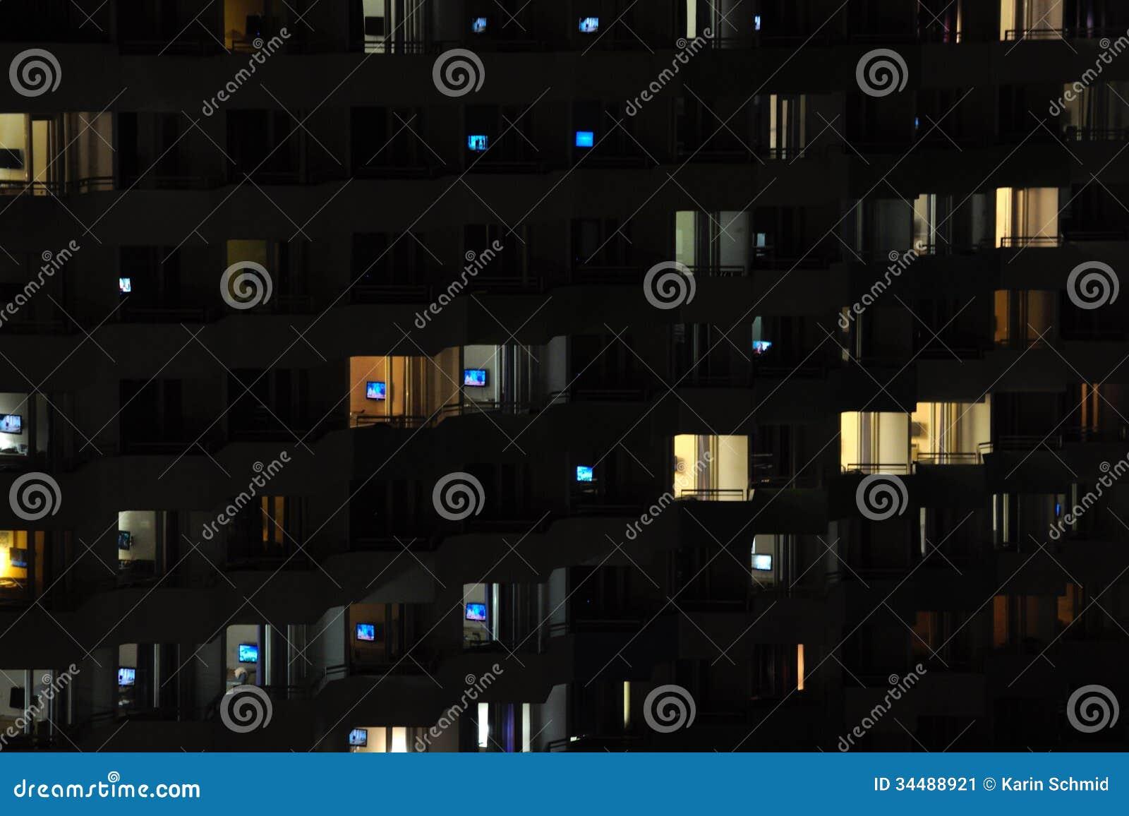 Televisione alla notte