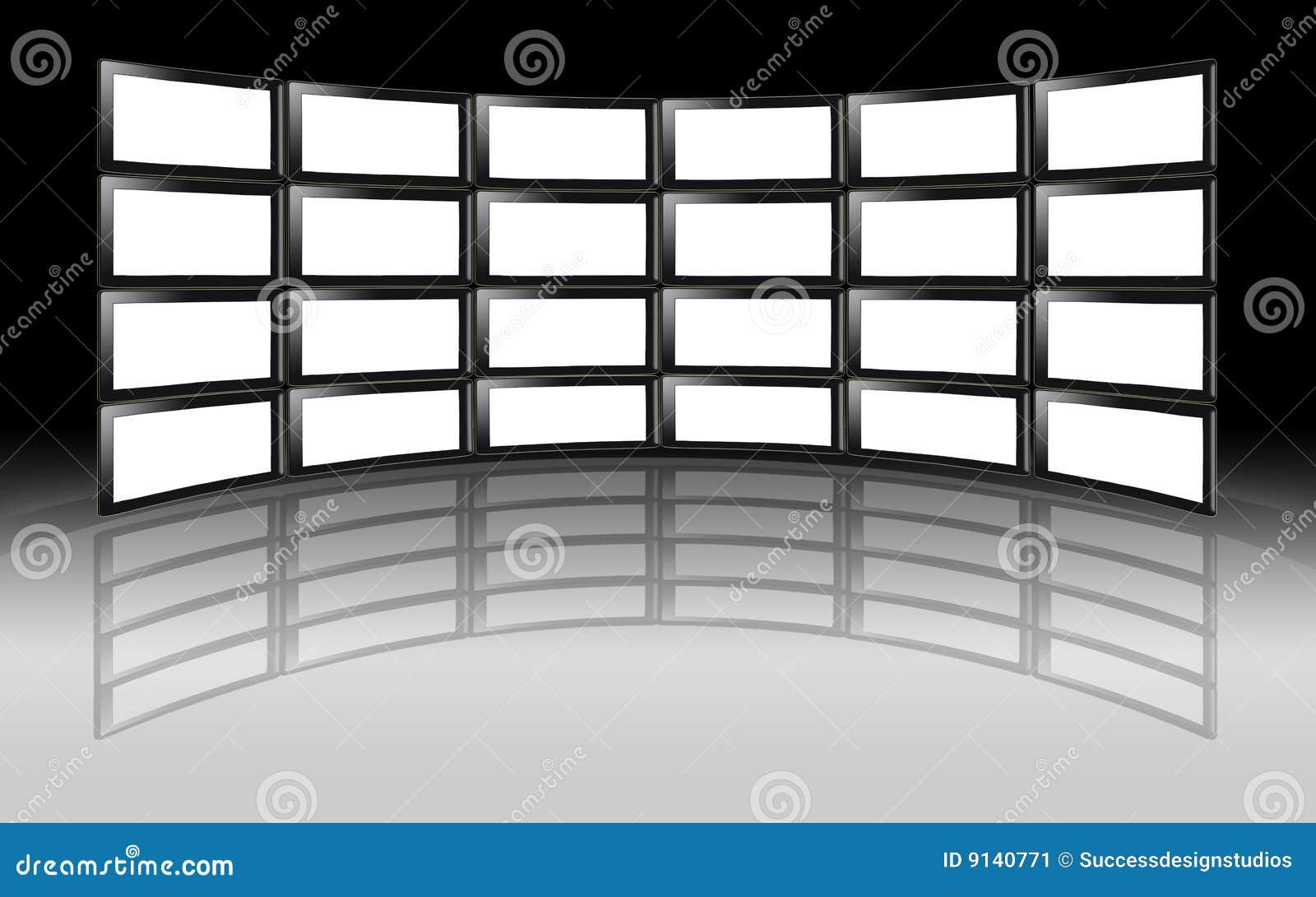 Televisiones del plasma del lcd de la pared de la tv - Tv en la pared ...