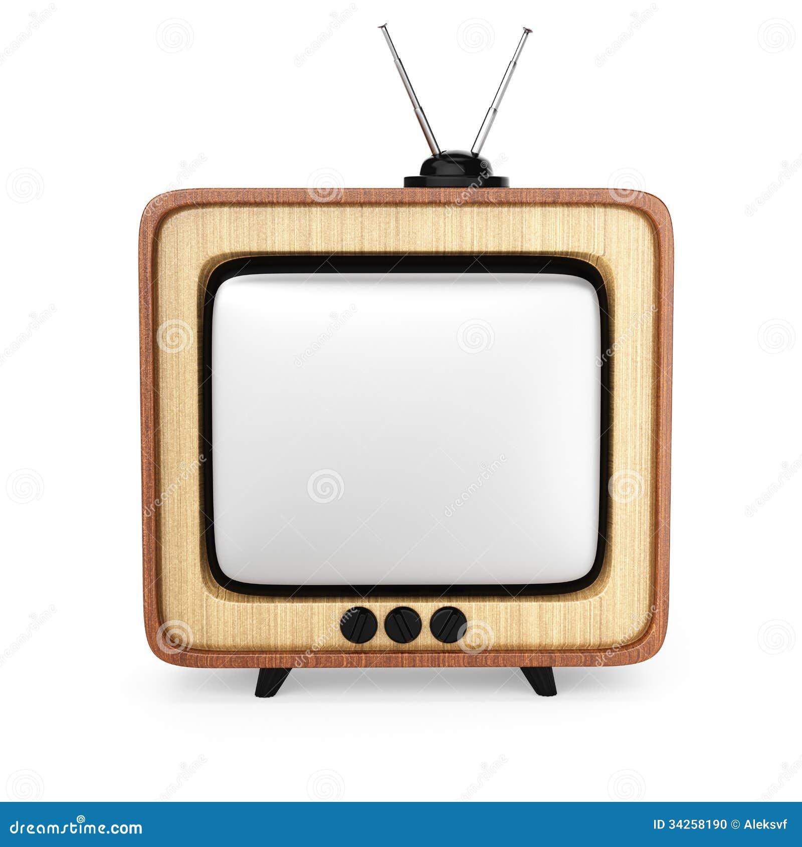Televisor retro stock de ilustraci n imagen de viejo for Fotos de televisores