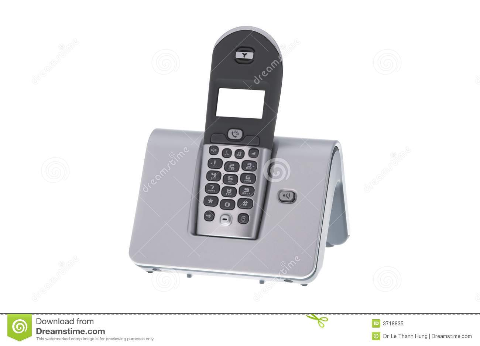 Tel fono sin hilos de la oficina moderna foto de archivo for La oficina telefono