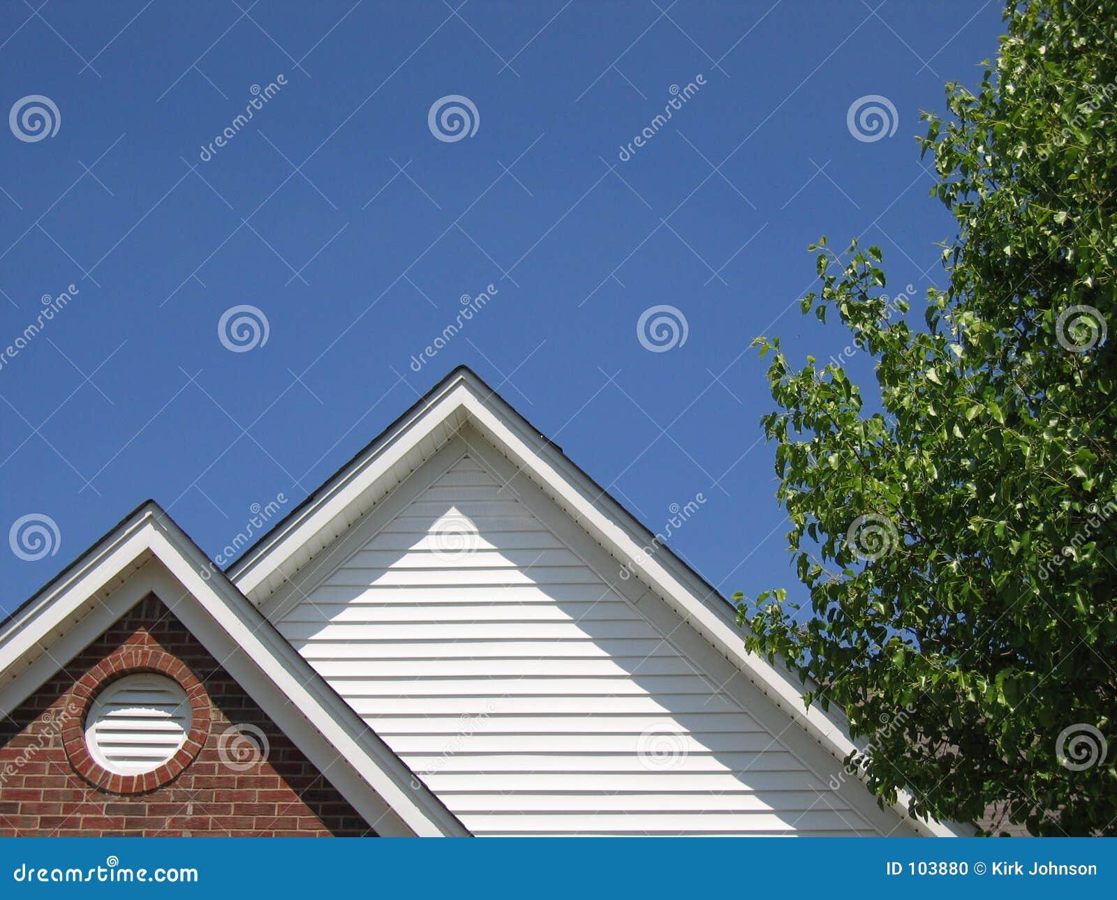 Telhado & céu & árvore