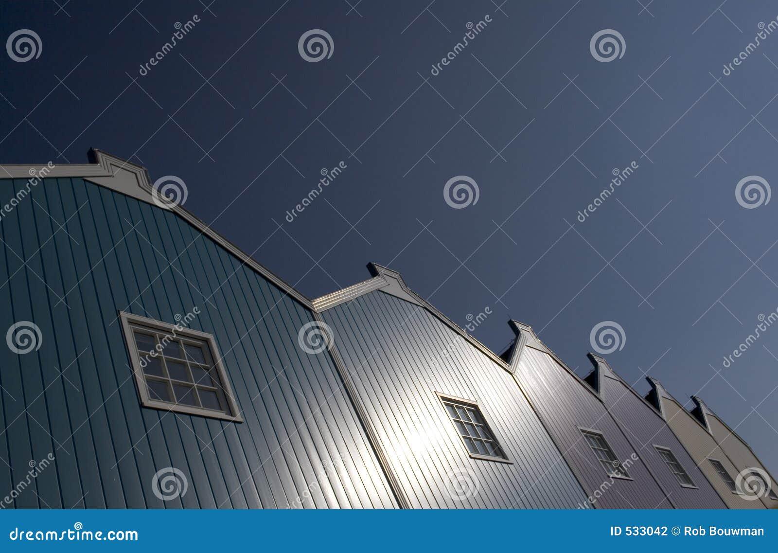 Telhado azul