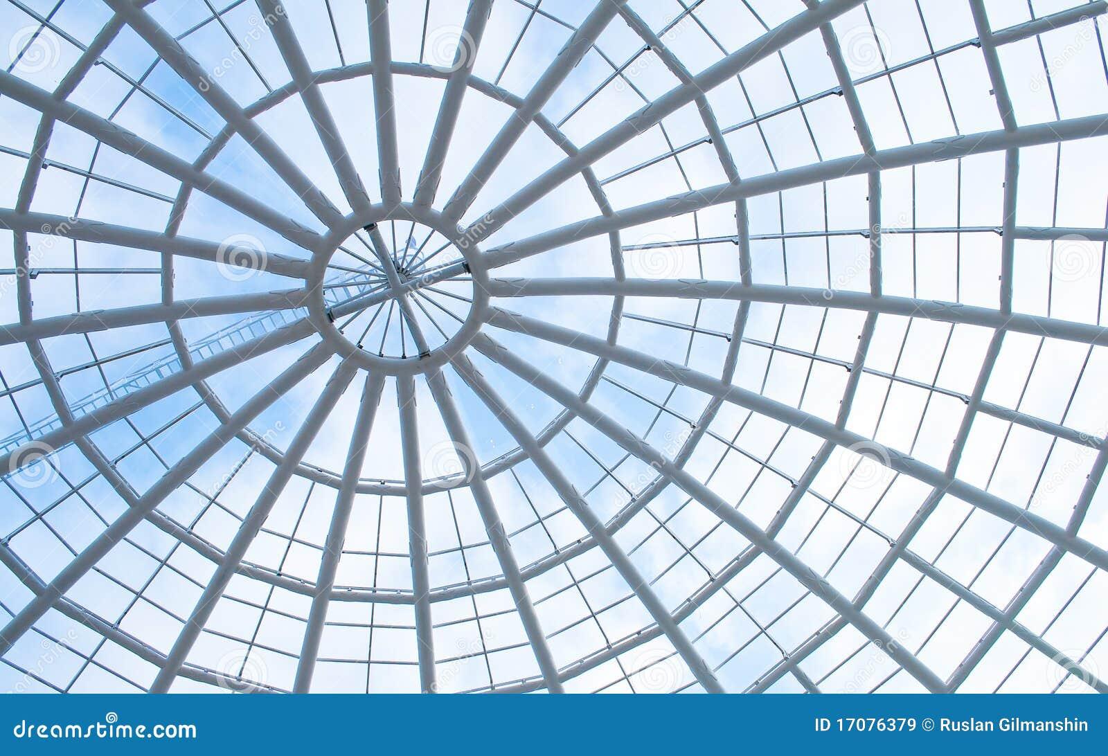 Telhado de vidro do painel