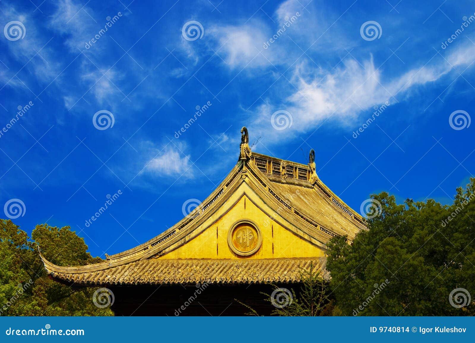 Telhado do castelo antigo em Ásia