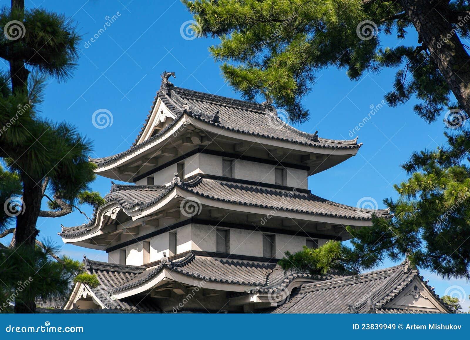 telhado japon s do castelo imagens de stock royalty free. Black Bedroom Furniture Sets. Home Design Ideas