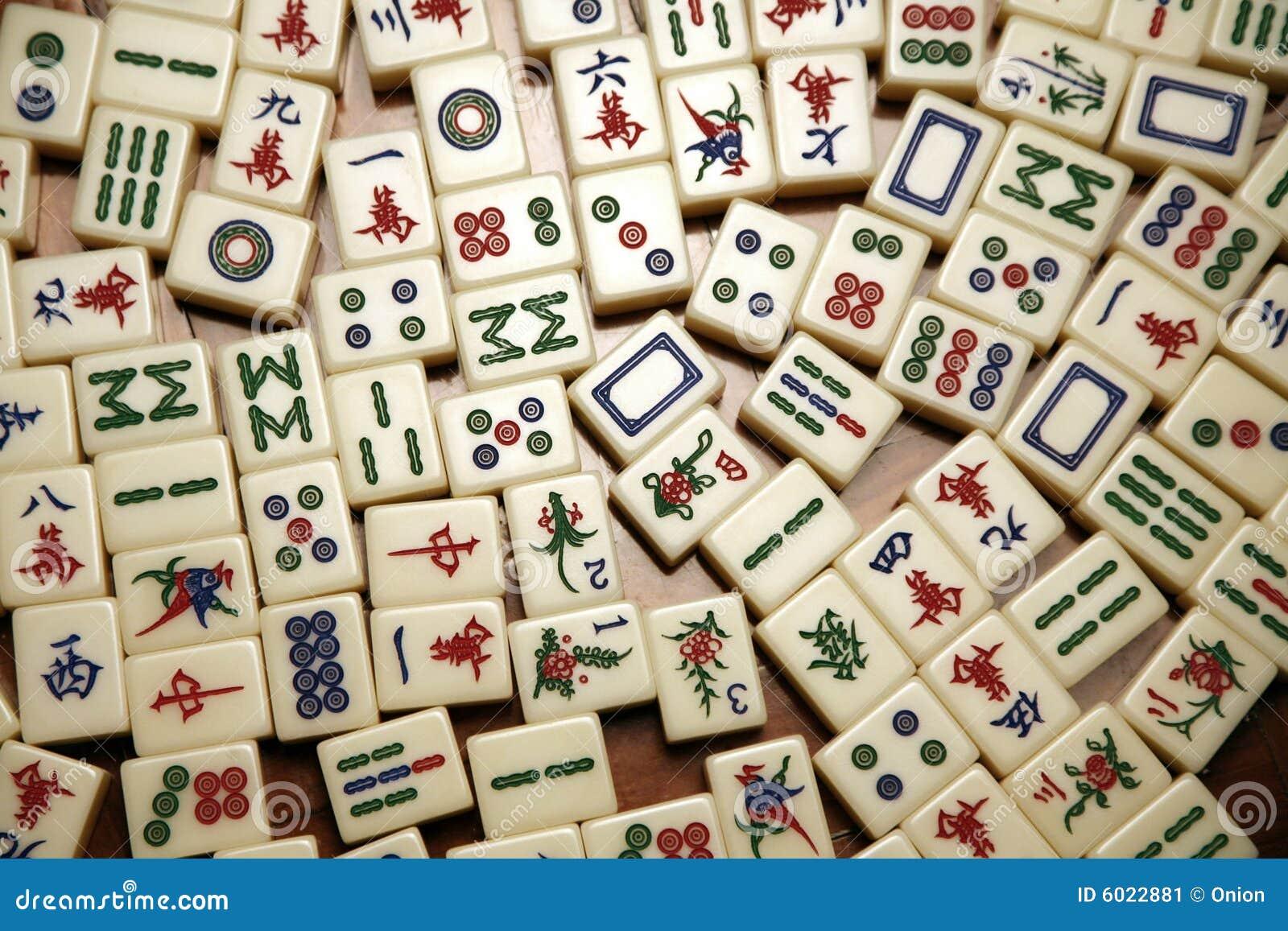 Telhas de Mahjong