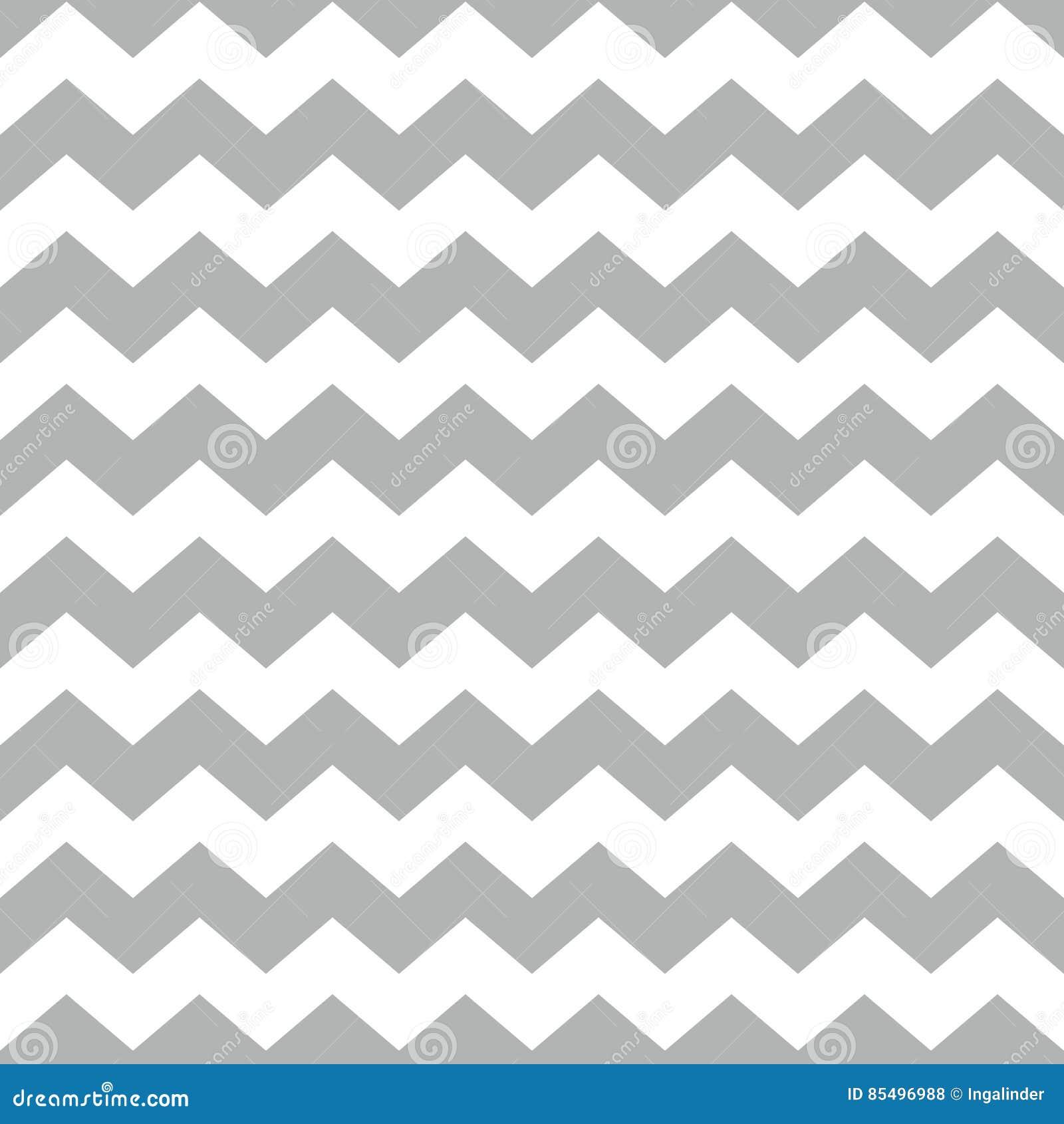 Telhe o teste padrão do vetor da viga com fundo branco e cinzento do ziguezague