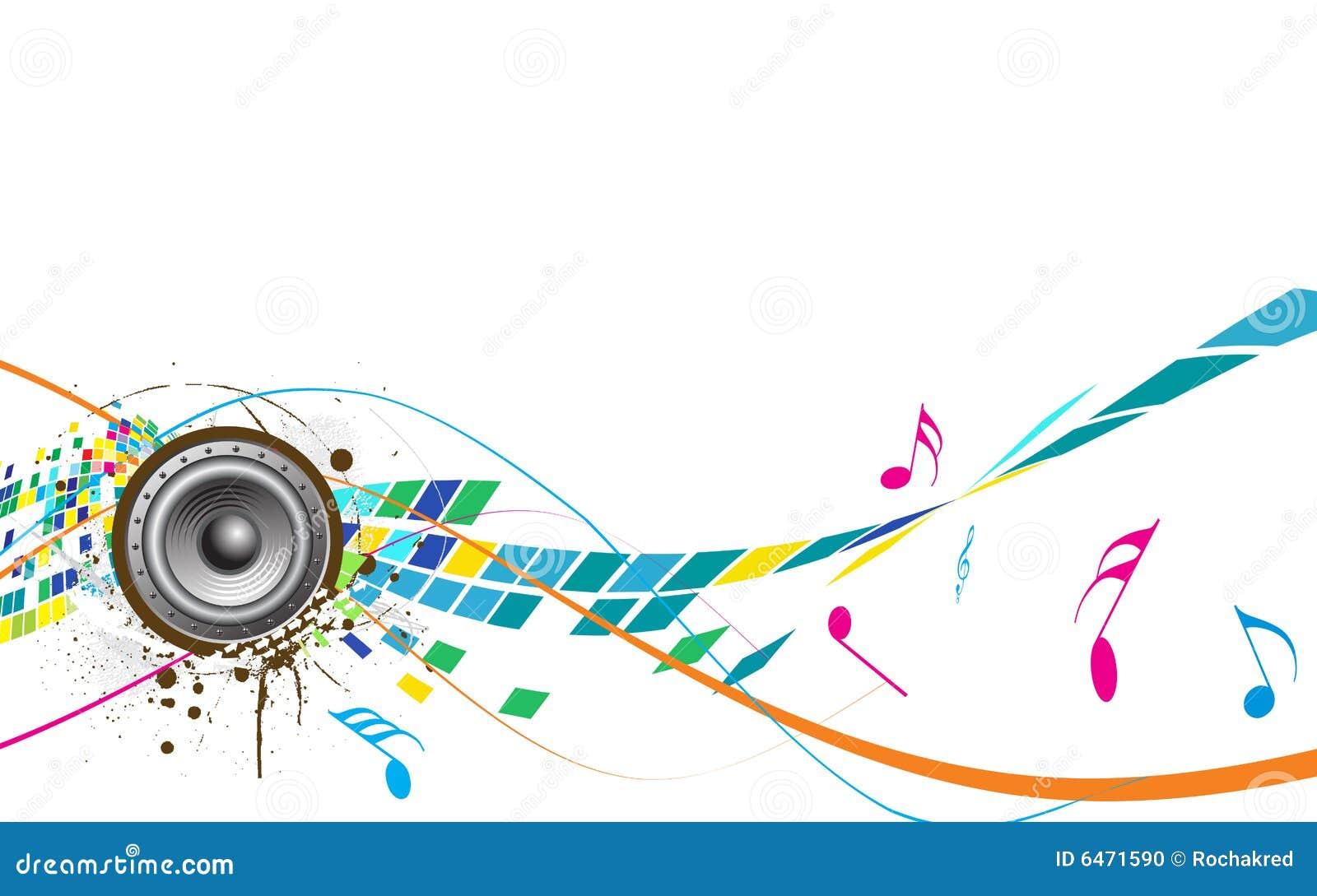 Tema abstracto de la música