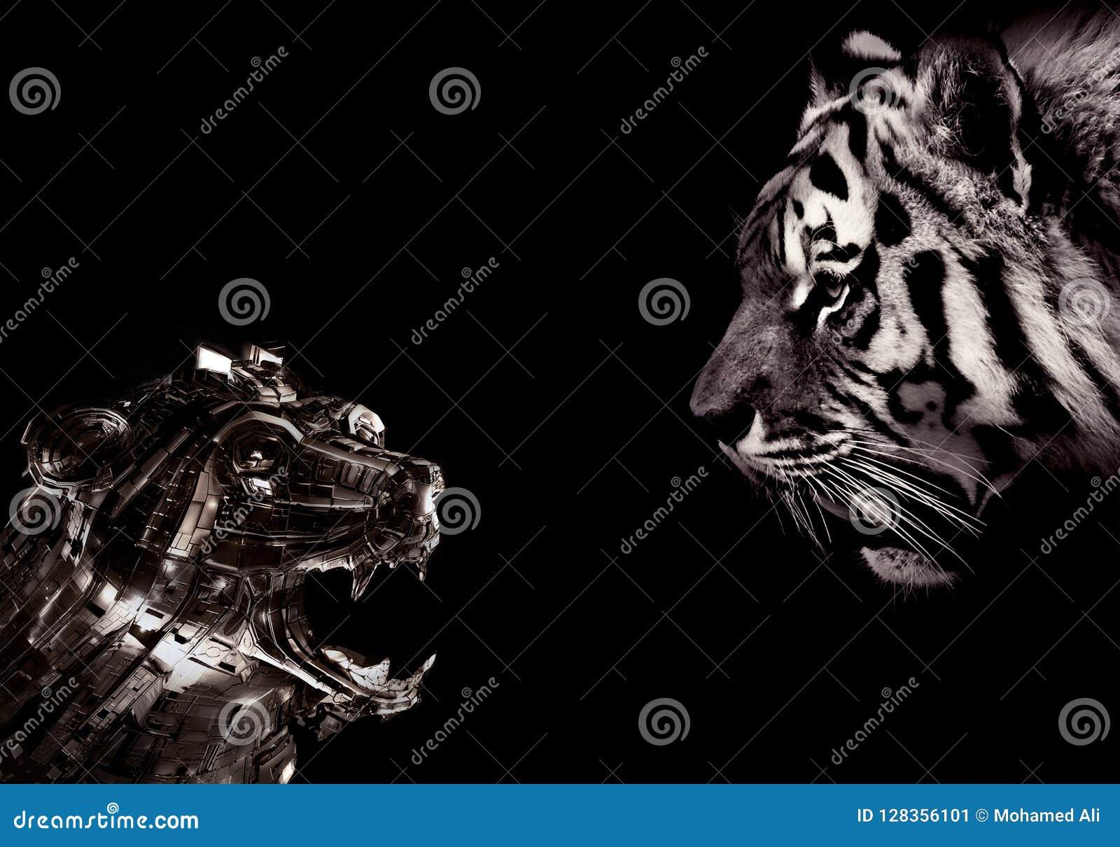Tema astratto artistico della macchina utilizzata sulle fronti di taglio della natura in bianco e nero