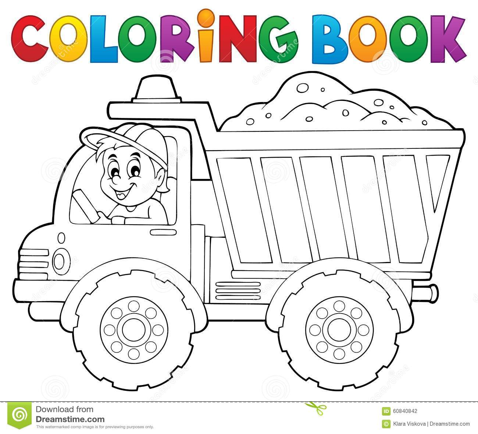 Tema 1 del camion della sabbia del libro da colorare - Libro da colorare uomo ragno libro ...