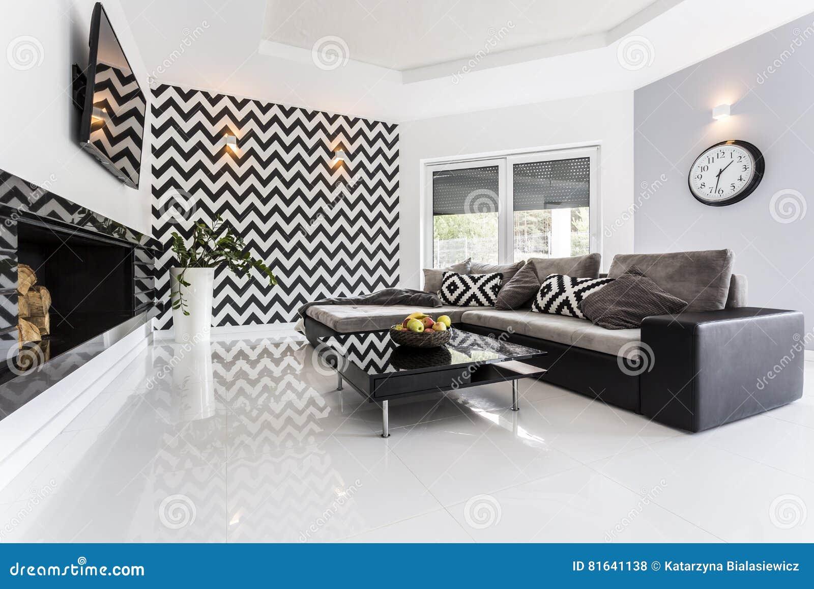 Tema Del Mosaico En La Pared En Sala De Estar Foto De Archivo Imagen De Comodidad Tema 81641138