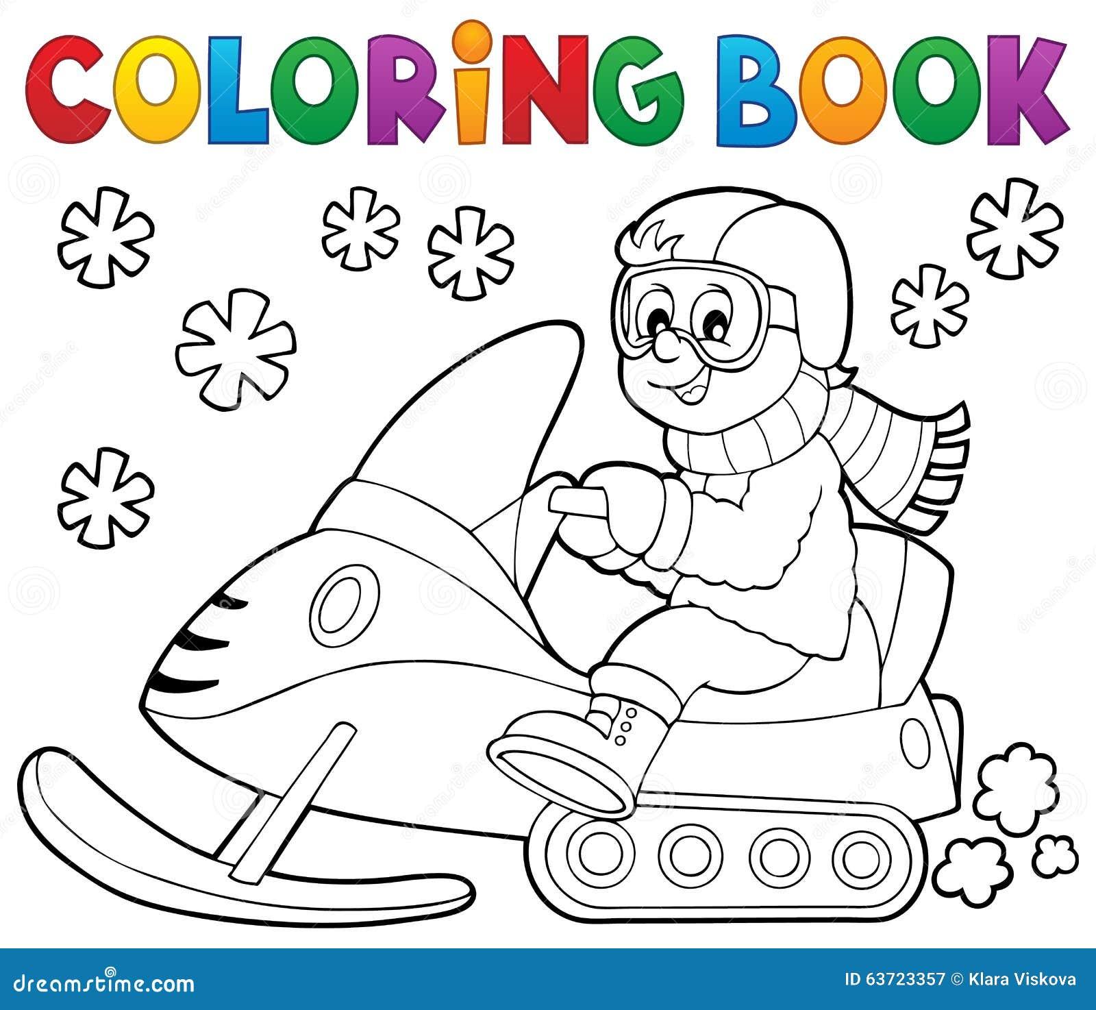 Tema 1 Di Gatto Delle Nevi Del Libro Da Colorare Illustrazione