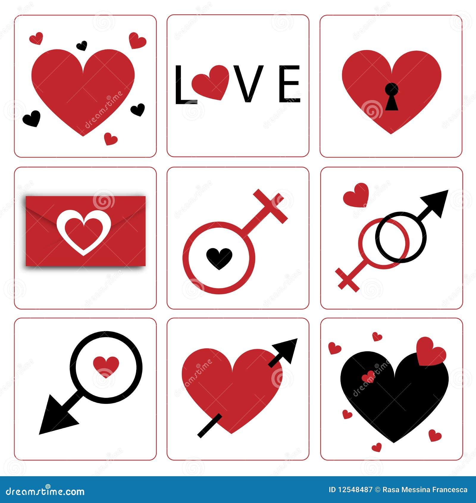 Tema do ícone-Valentim do coração de Vecrtor