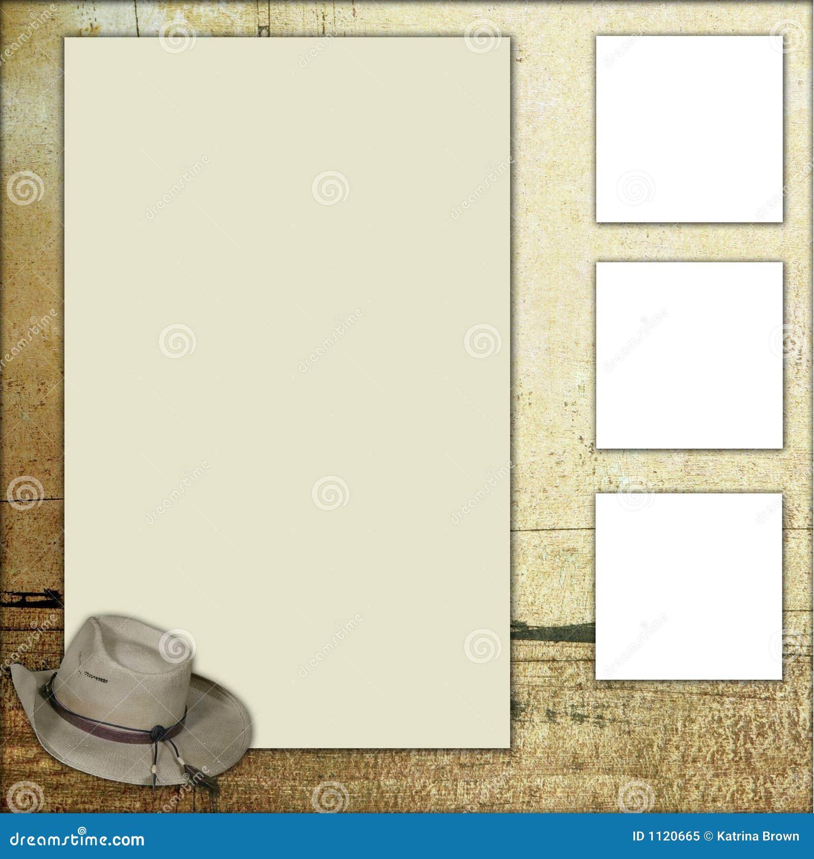 Tema för mall för landsramscrapbook