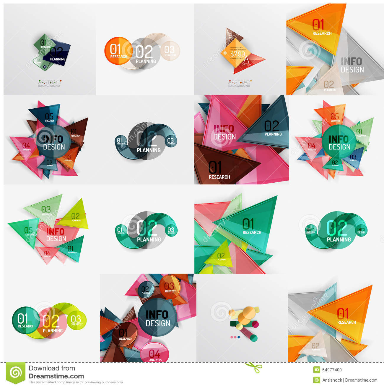 Temlates modernos del diseño geométrico, universales