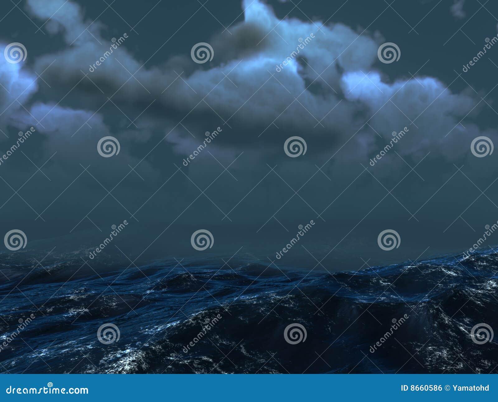 Tempête de mer