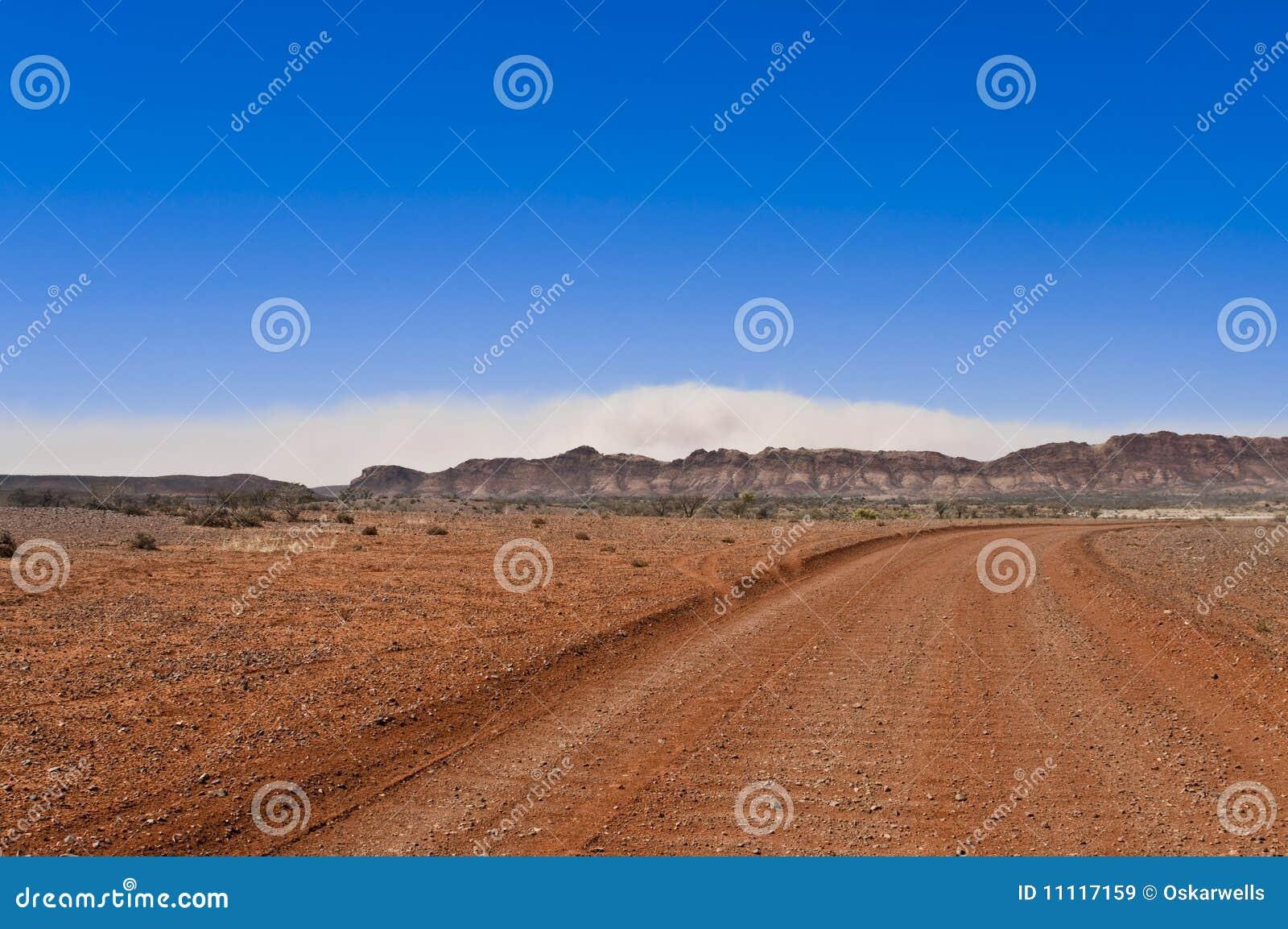 Tempête de sable dans l intérieur