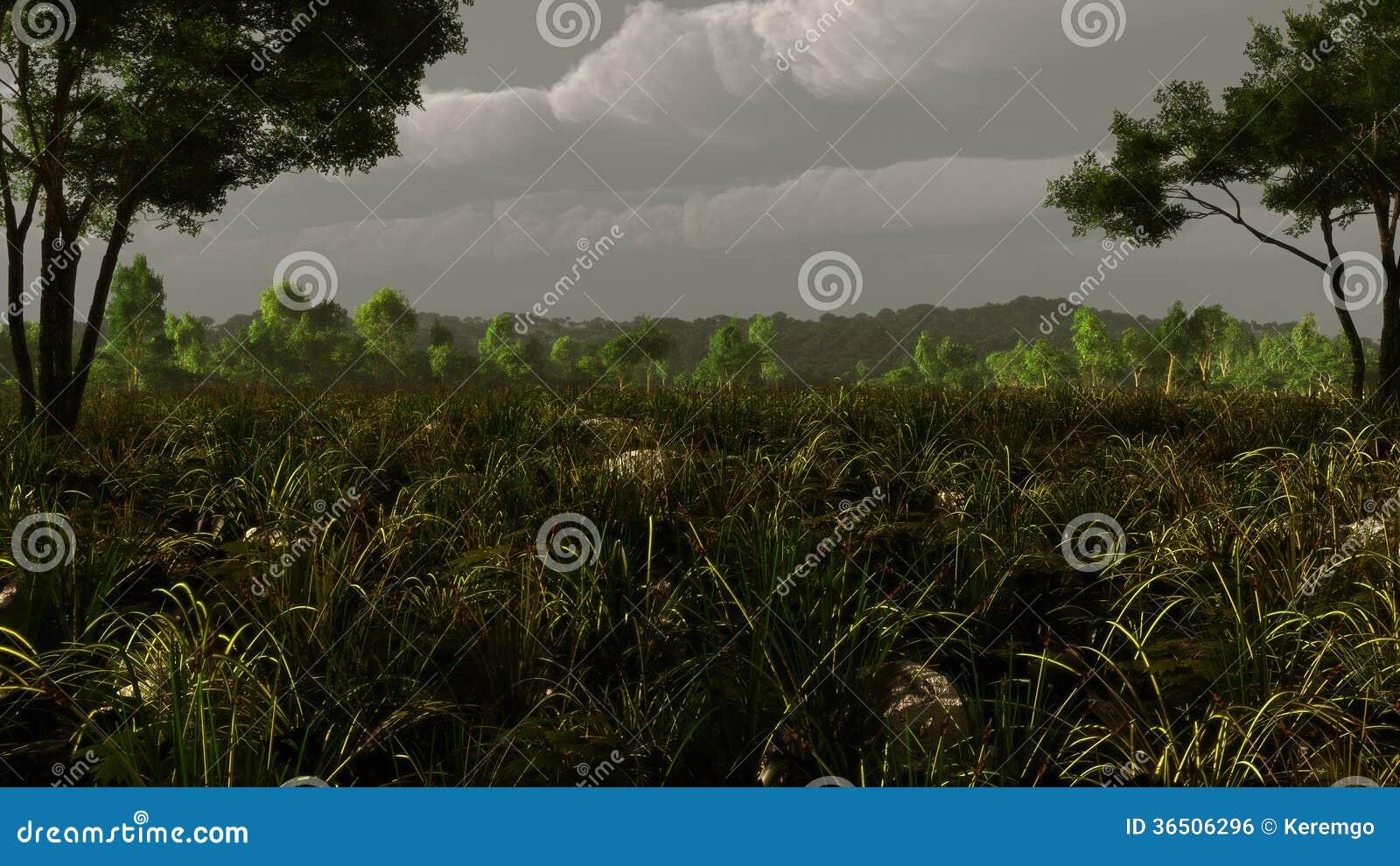 Tempête pastorale de paysage