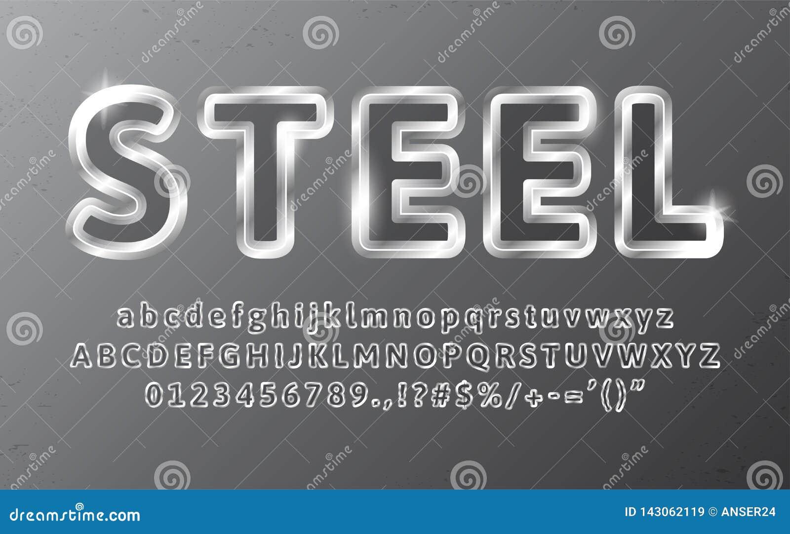Metal Chrome Alphabet Steel