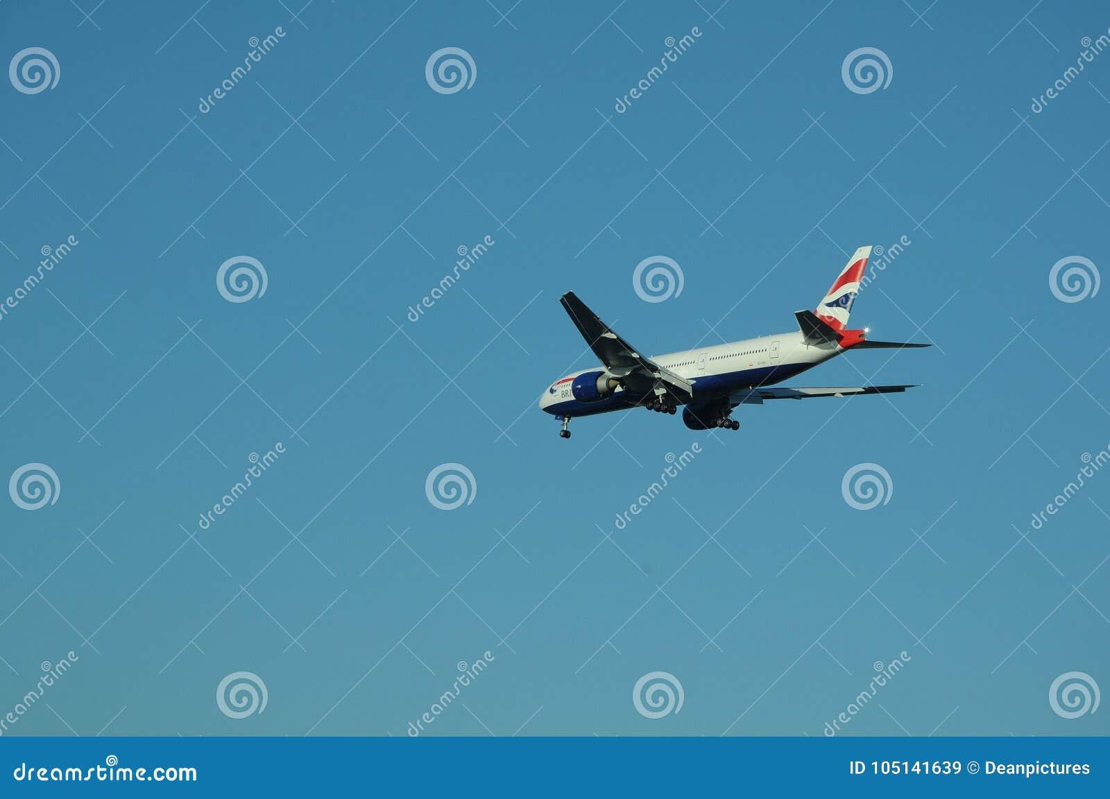 31b037532827 British airways commercial flight landing in Tempa International airport in  Tempa Florida