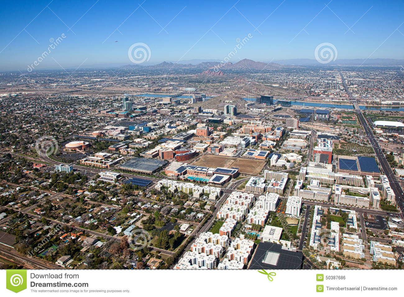 Tempe Stock Photo Image Of Phoenix Rooftops Aerial 50387686