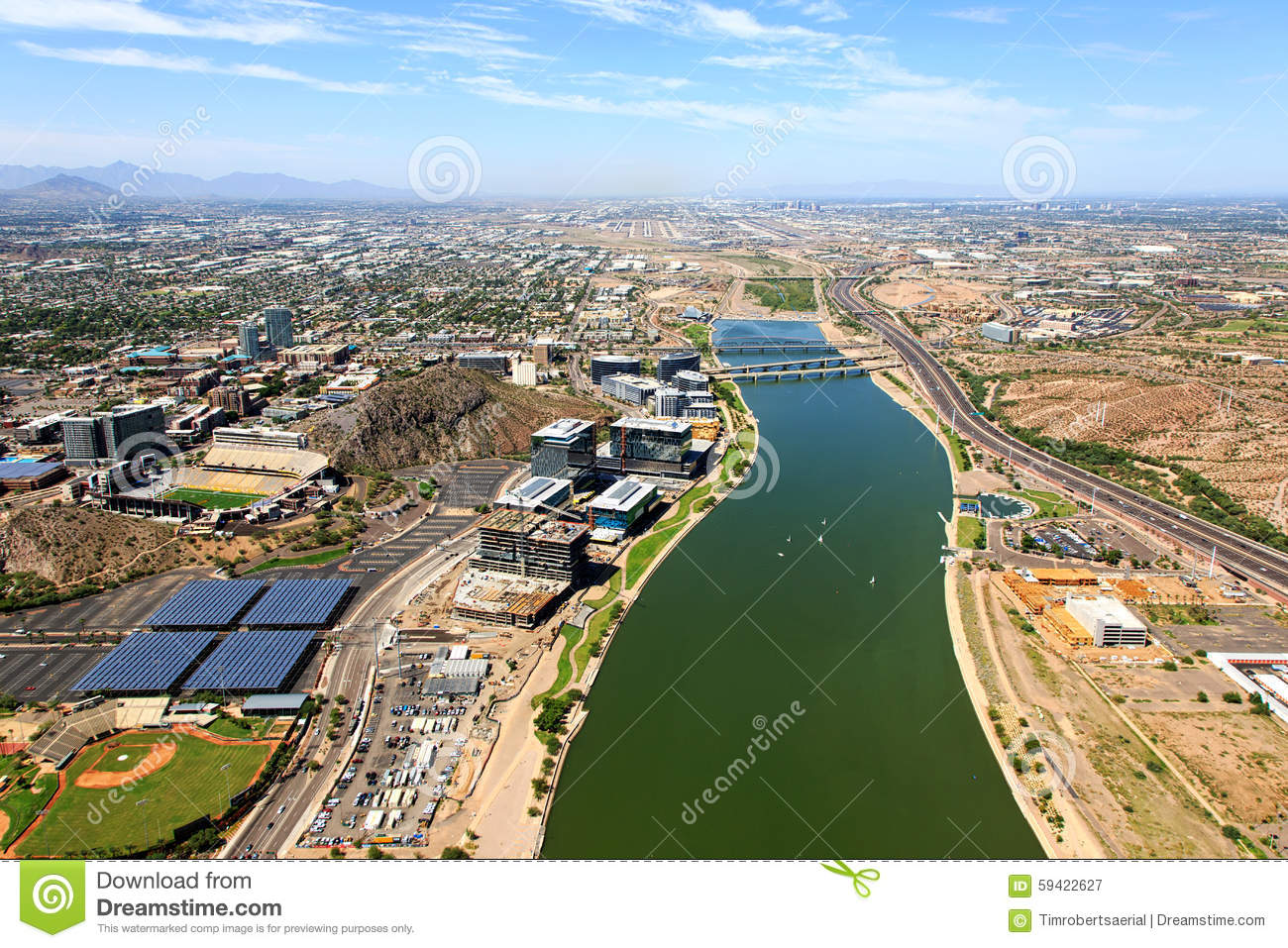 Tempe Town Lake Stock Image Image Of Water Bottom Architecture