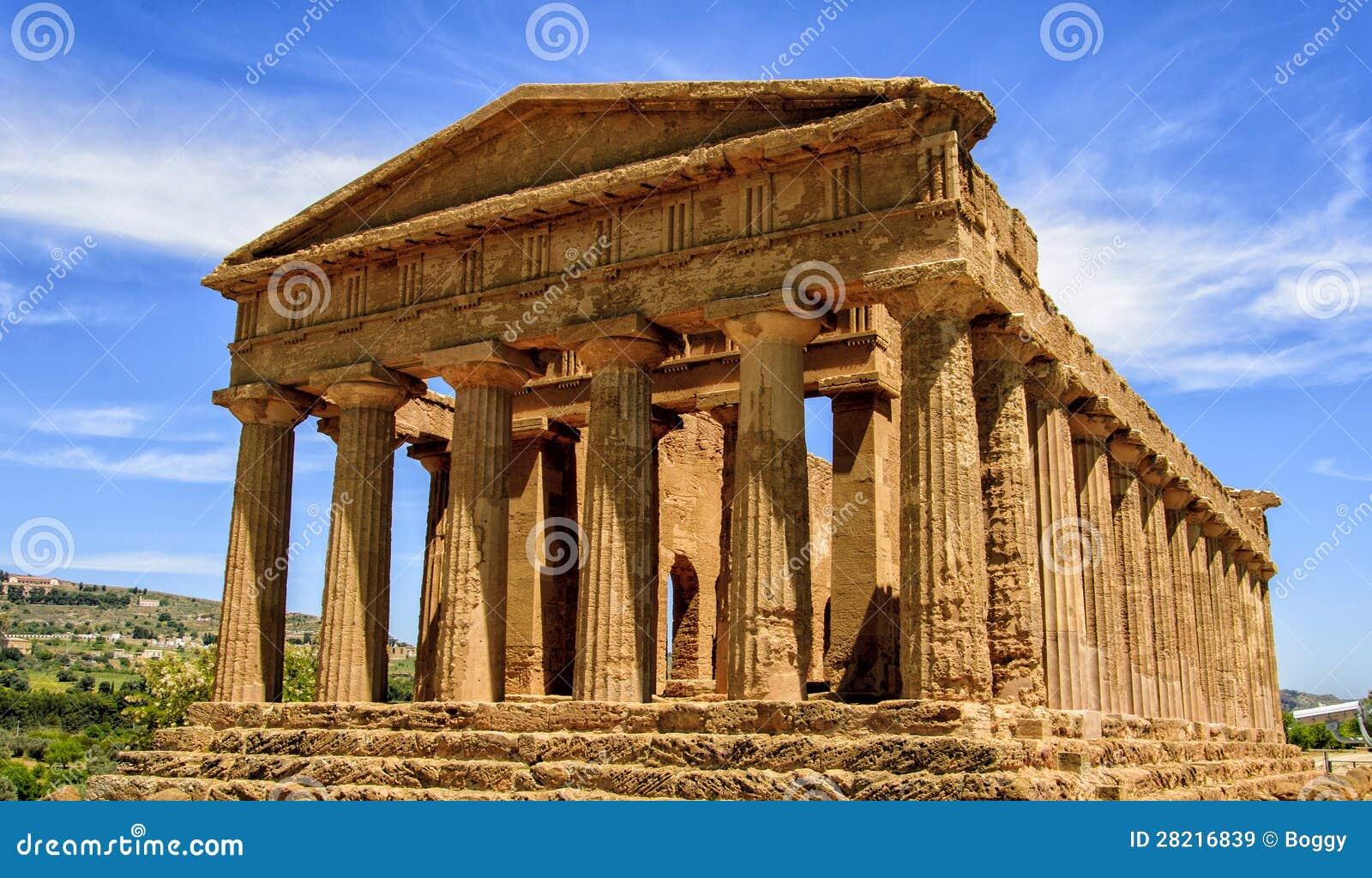 Tempel av Concordia i Agrigento, Italien