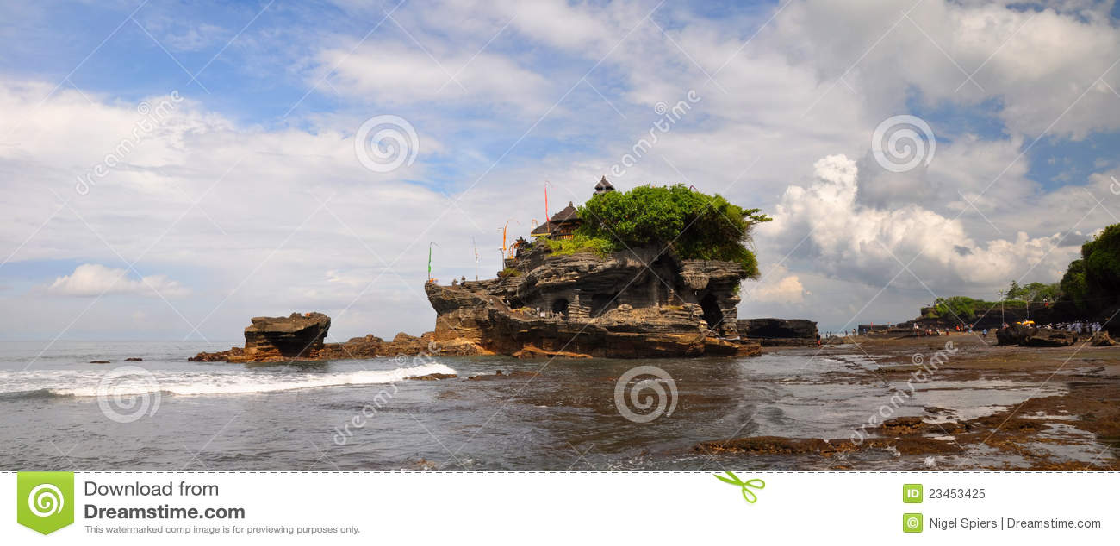 Tempel för bali indonesia mycket panoramatanah