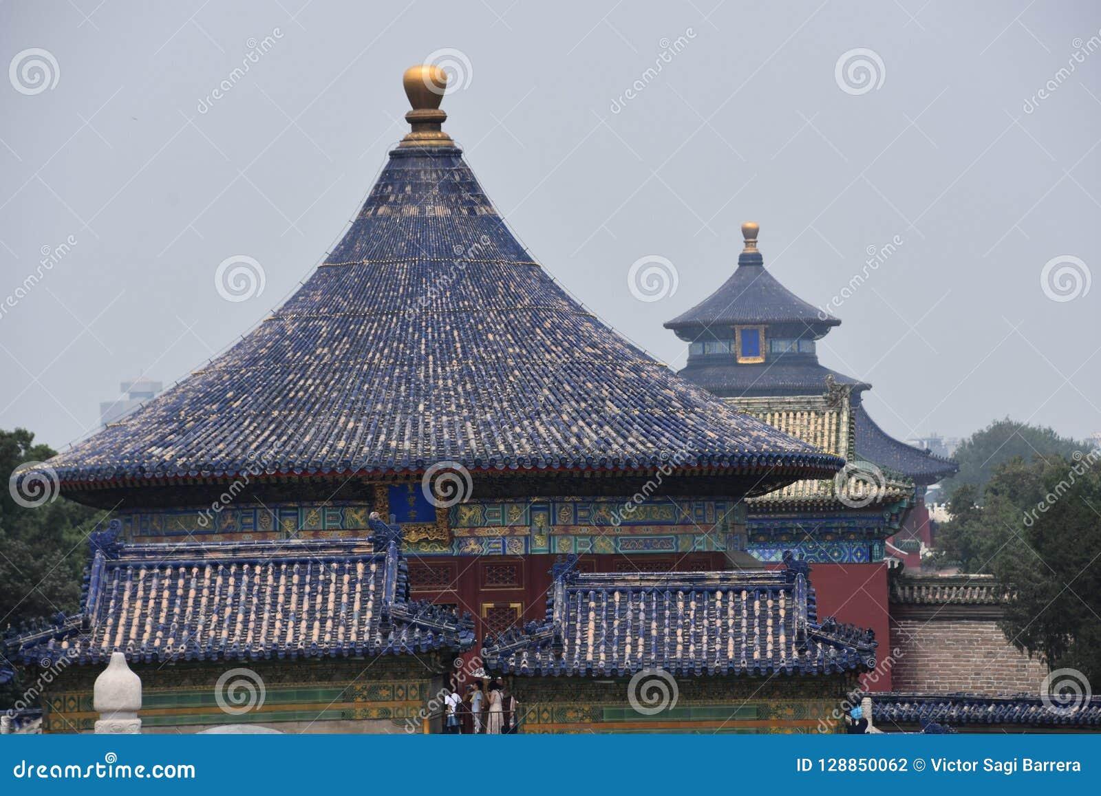 Tempel för beijing porslinhimmel
