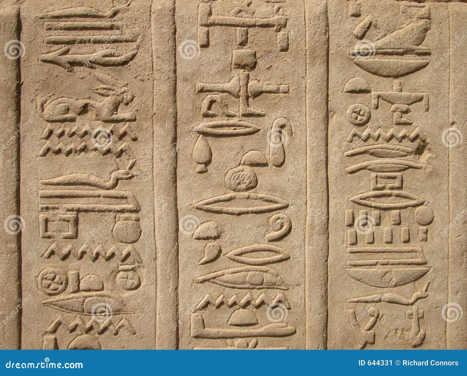 Tempel för ombo för egypt hieroglyphicskom