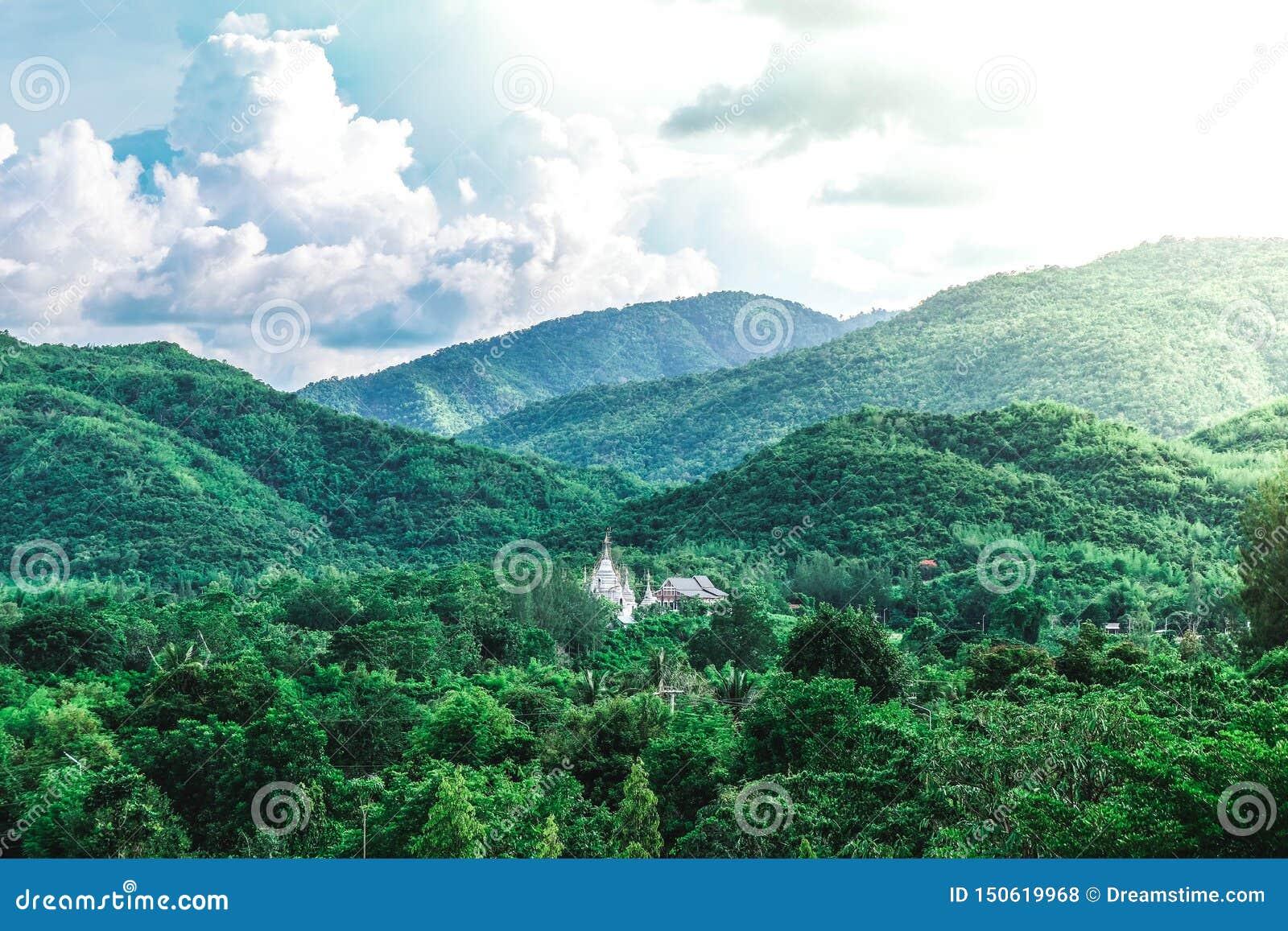 Tempel i mitt av skogen